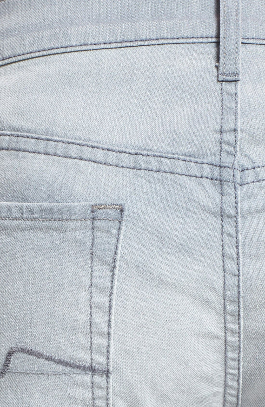 Alternate Image 4  - 7 For All Mankind® 'Standard' Straight Leg Jeans (Ghost Grey)