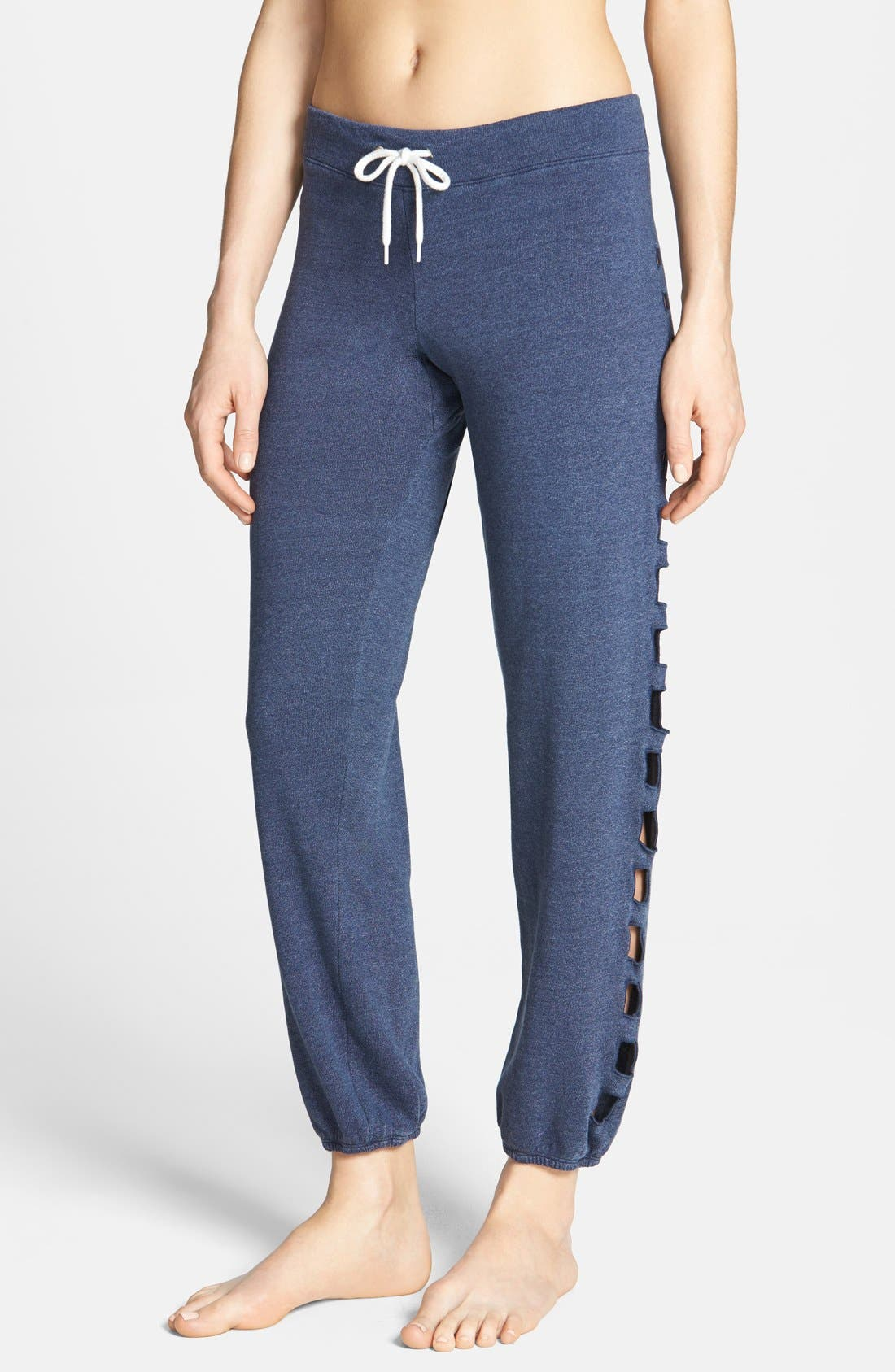 Alternate Image 1 Selected - Monrow Cutout Side Vintage Fleece Sweatpants
