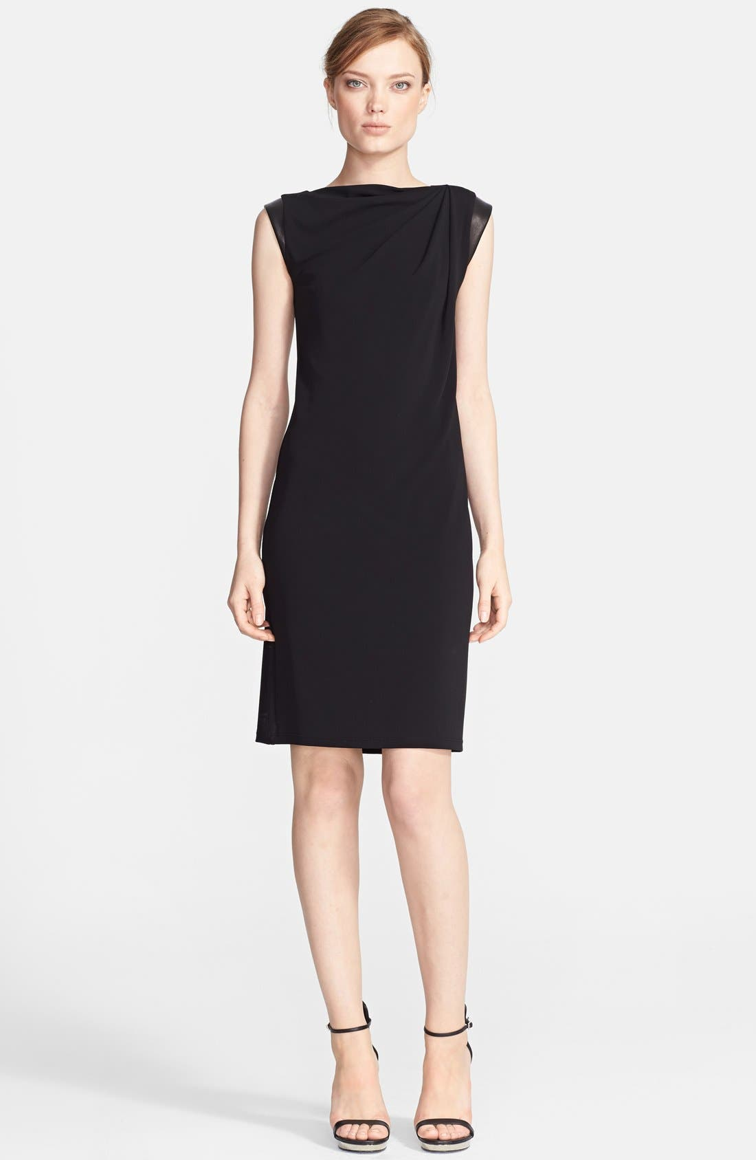 Alternate Image 1 Selected - Michael Kors Cap Sleeve Jersey Dress