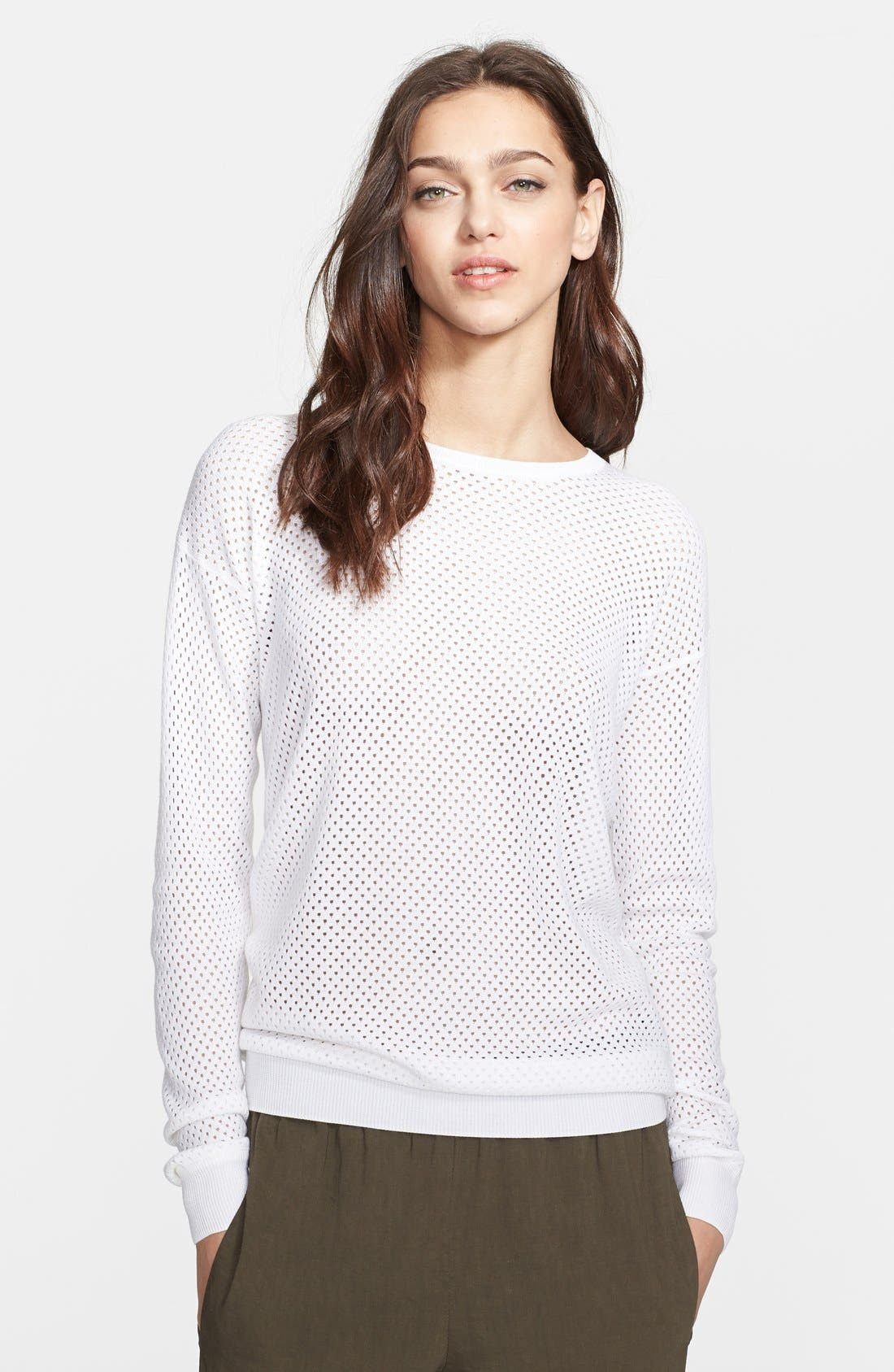 Main Image - Theory 'Dreamerly C.' Cotton & Silk Sweater