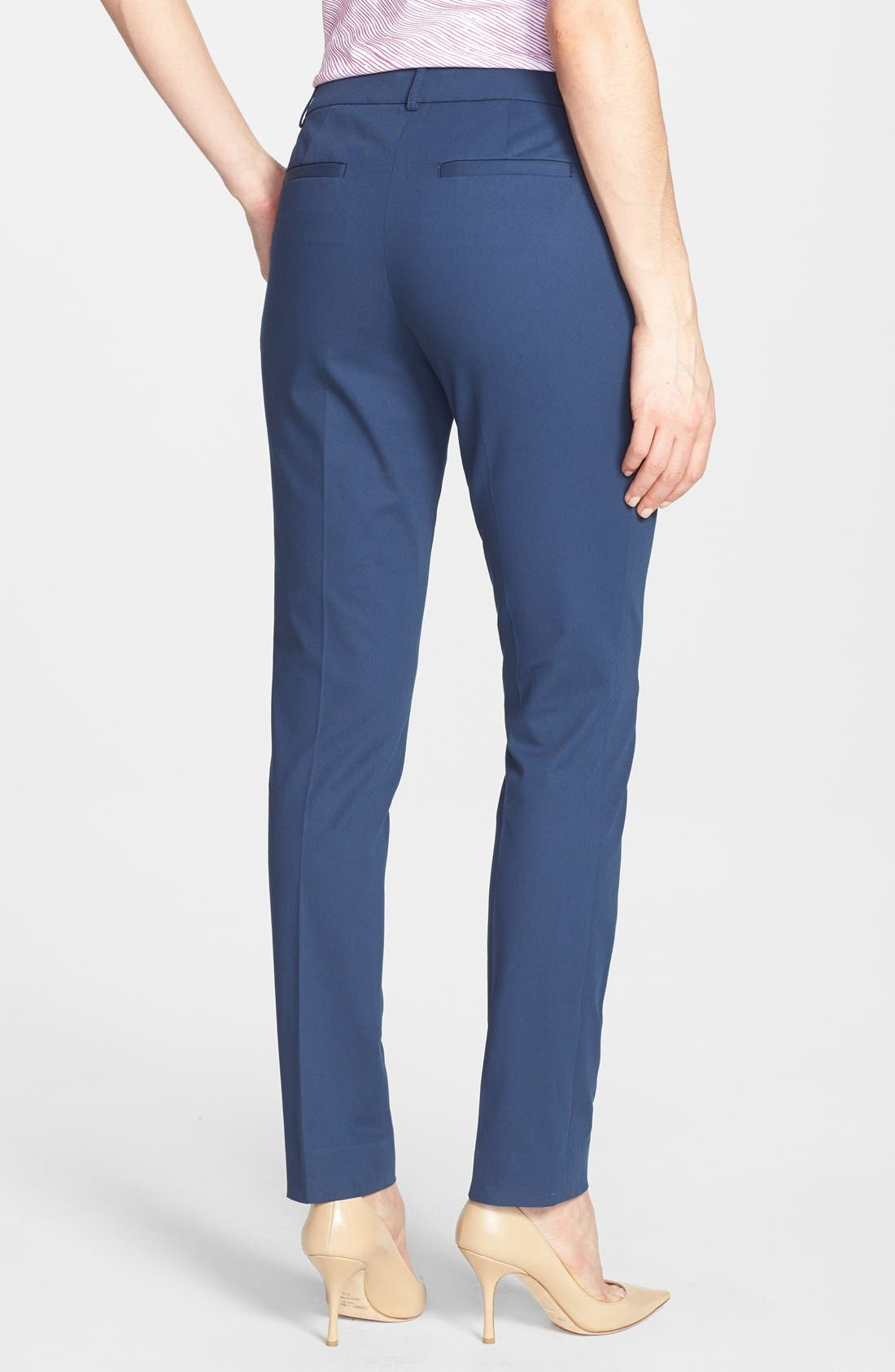 Alternate Image 2  - Lafayette 148 New York Polished Twill Skinny Ankle Pant