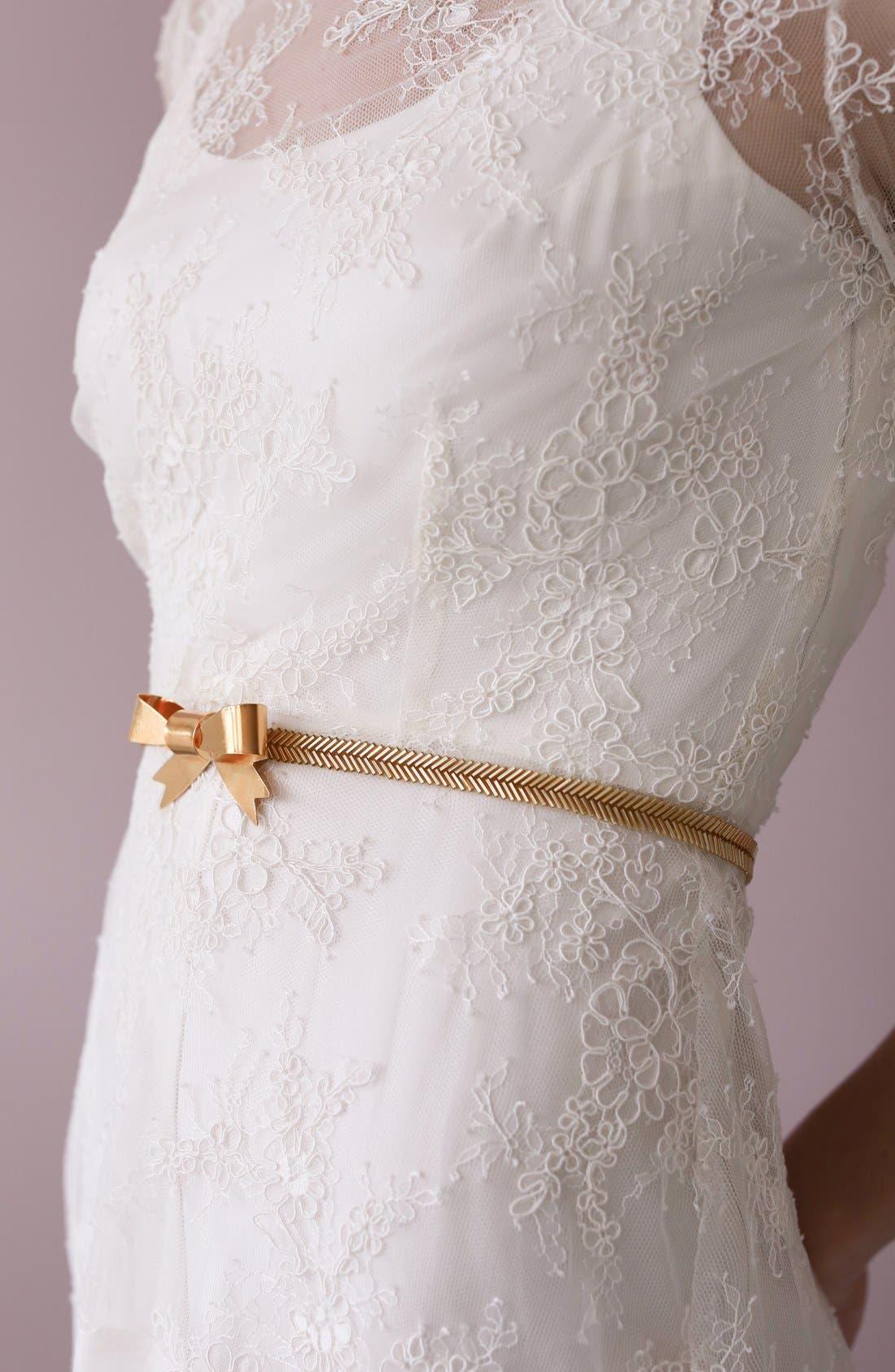 Alternate Image 5  - twigs & honey Gilded Bow Sash