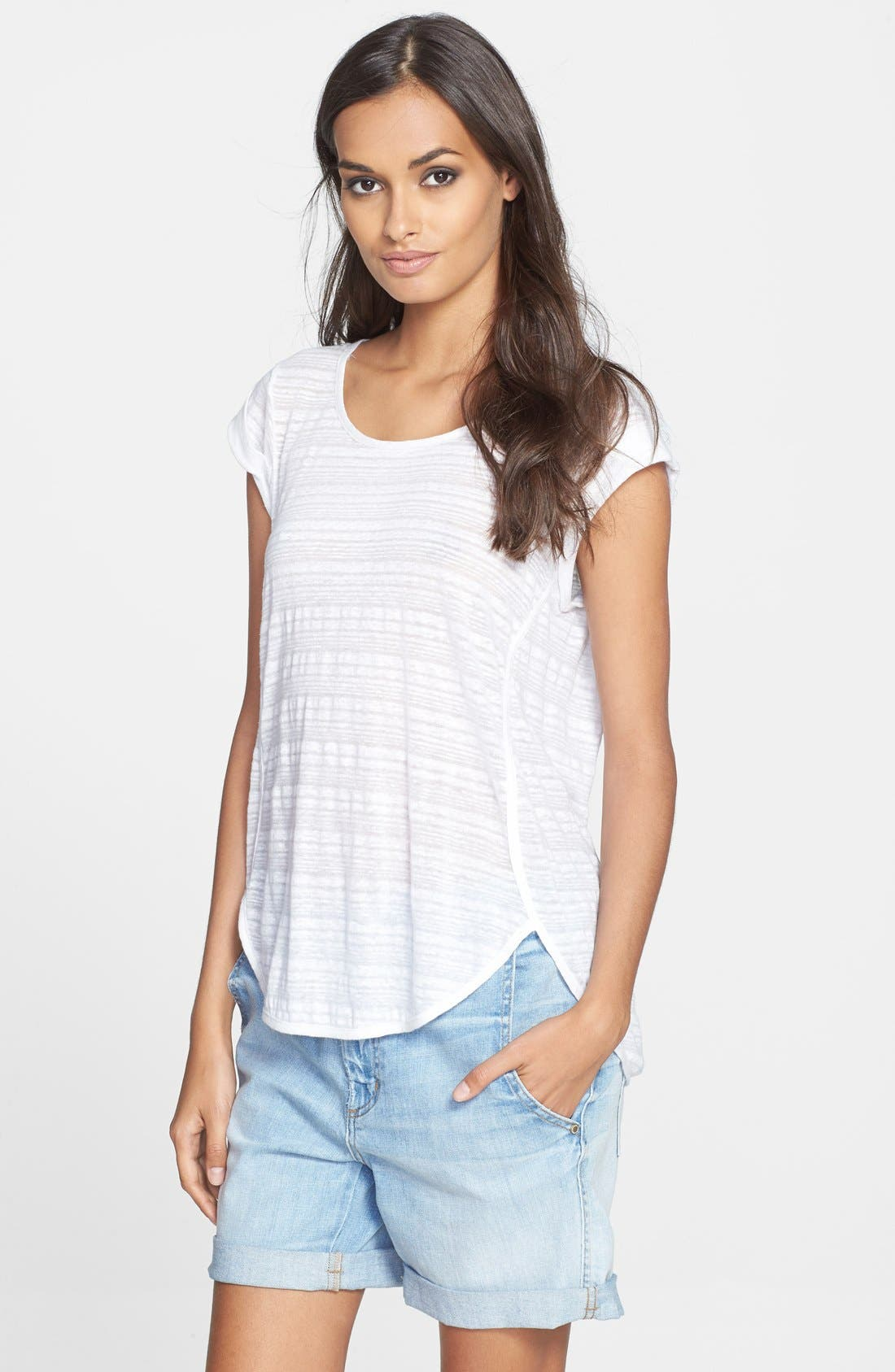 Main Image - MARC BY MARC JACOBS 'Eloise' Ombré Jersey Muscle Tee