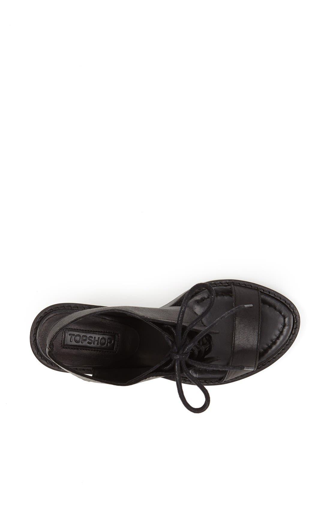 Alternate Image 3  - Topshop 'Nostalgic' Lace-Up Sandal