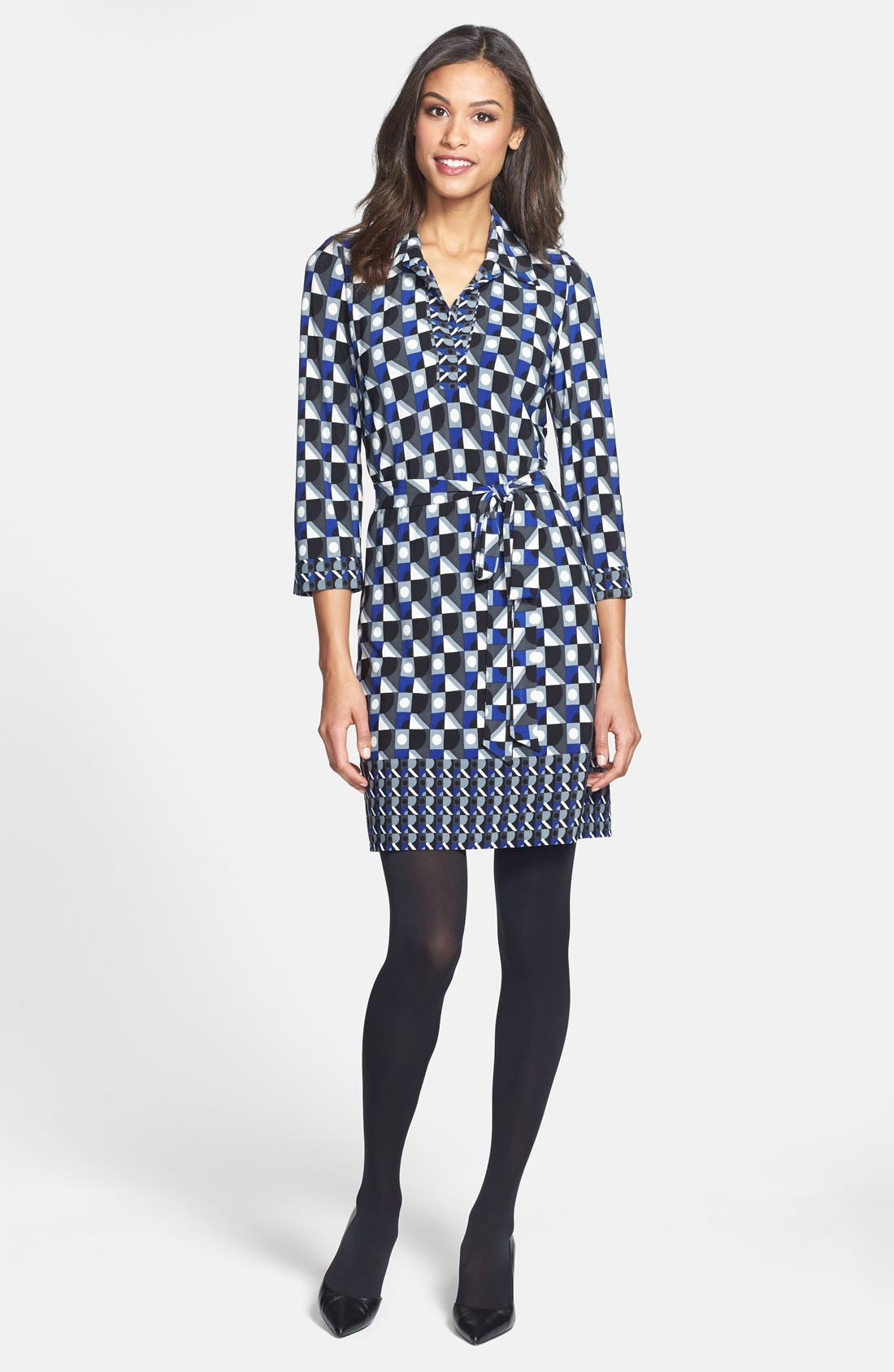 Alternate Image 5  - Laundry by Shelli Segal Matte Jersey Shirtdress