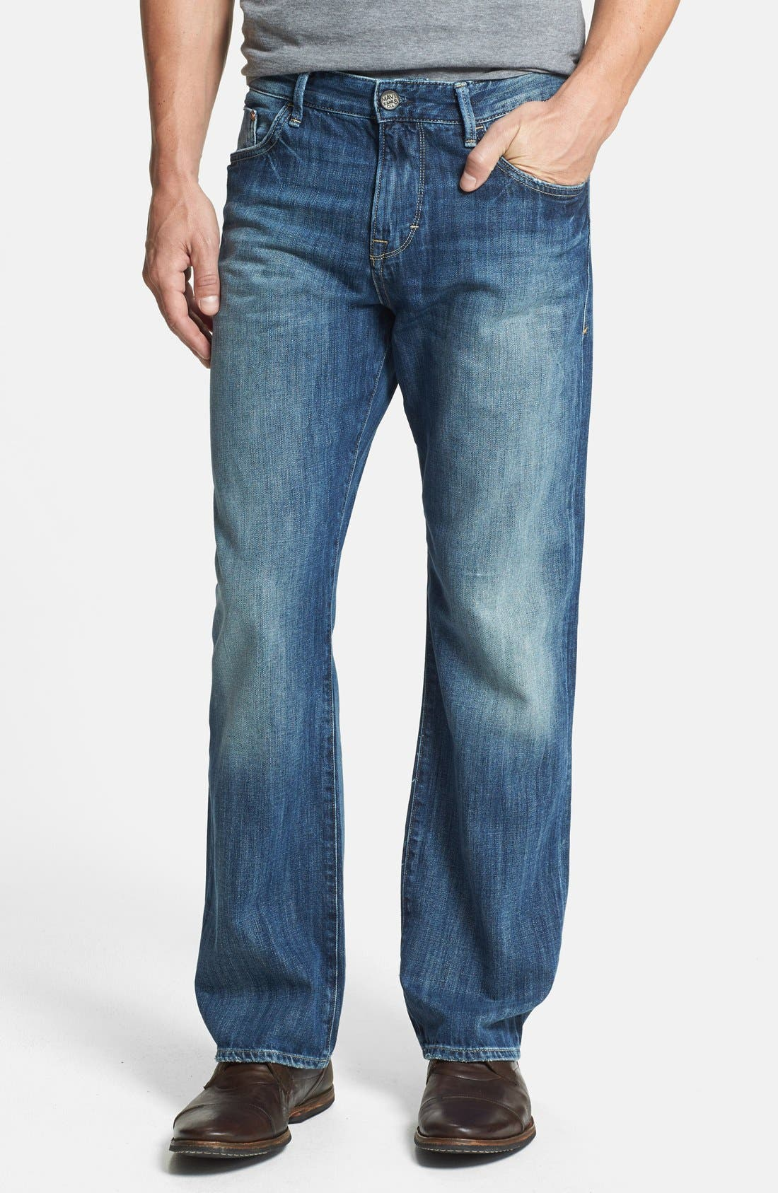 Alternate Image 1 Selected - Mavi Jeans 'Matt' Relaxed Straight Leg Jeans (Indigo Blue) (Online Only)