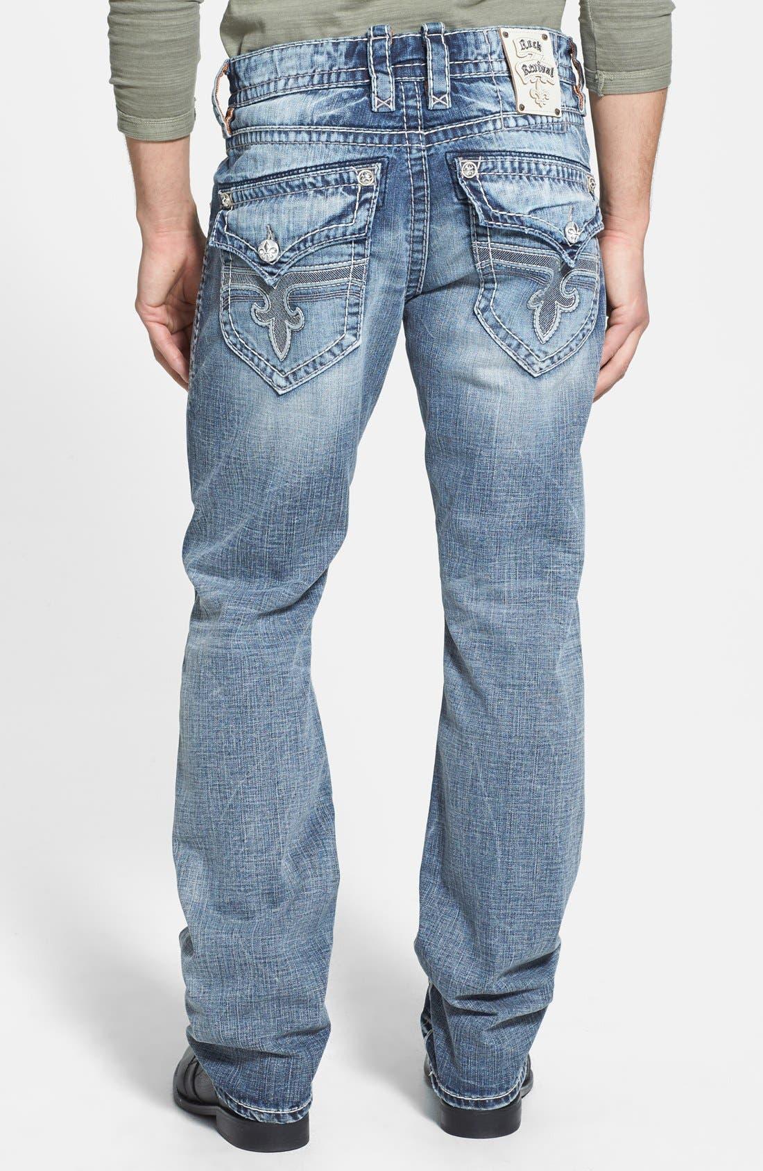 Alternate Image 1 Selected - Rock Revival 'Jed' Straight Leg Jeans (Light Blue)