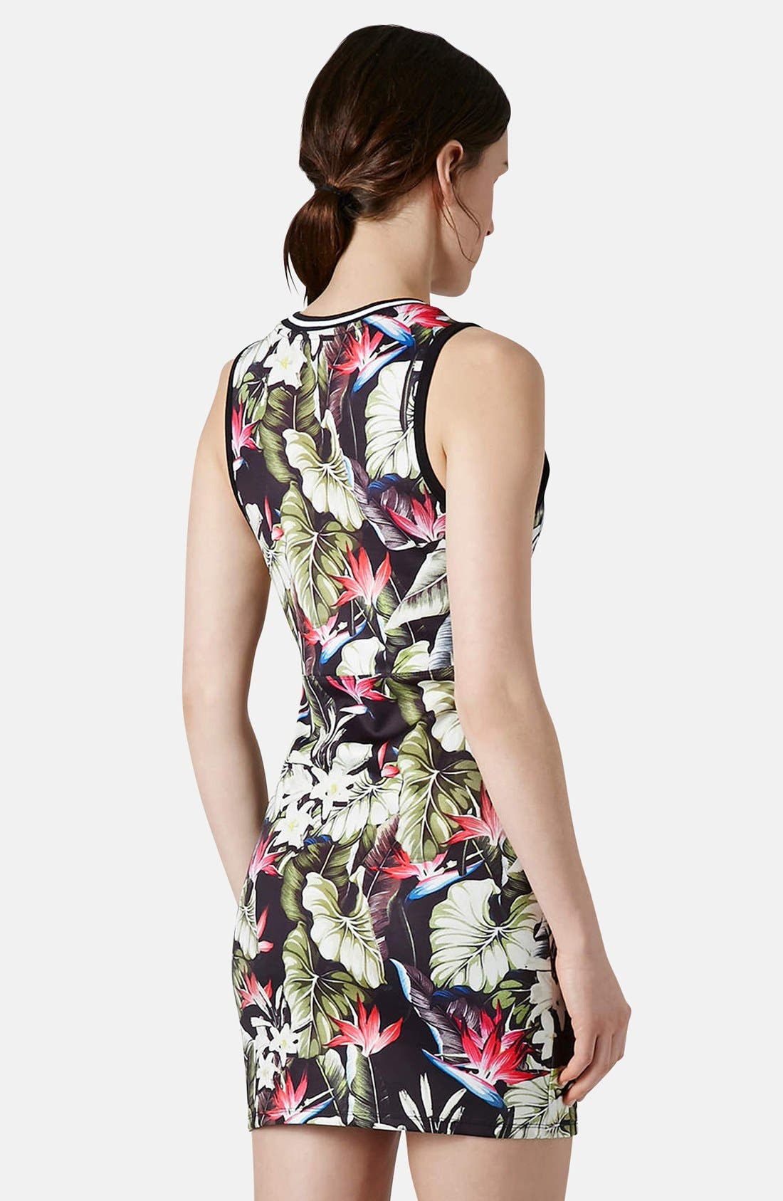 Alternate Image 2  - Topshop 'Island Life' Tropical Print Body-Con Dress