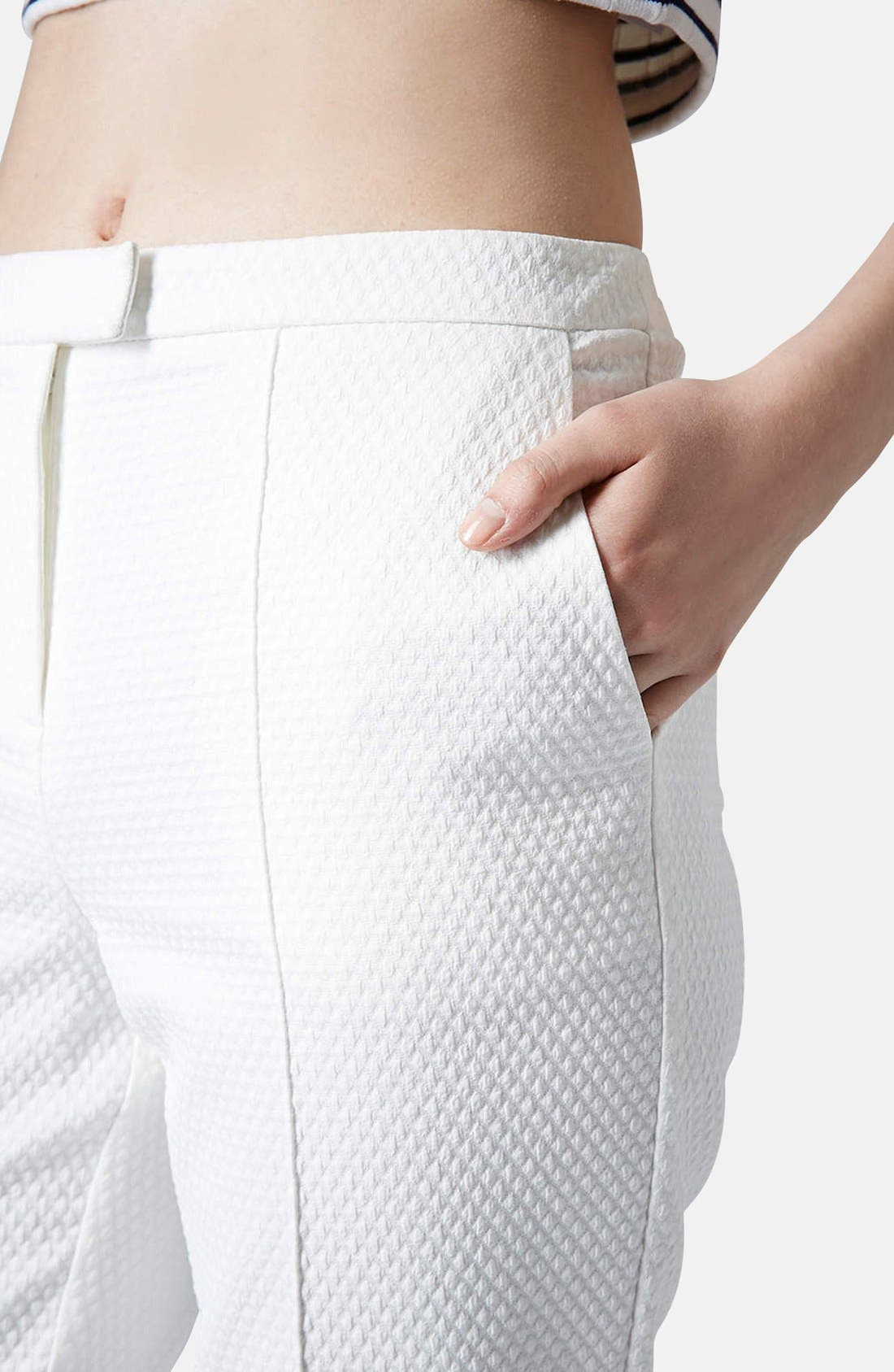 Alternate Image 4  - Topshop Textured Cigarette Pants