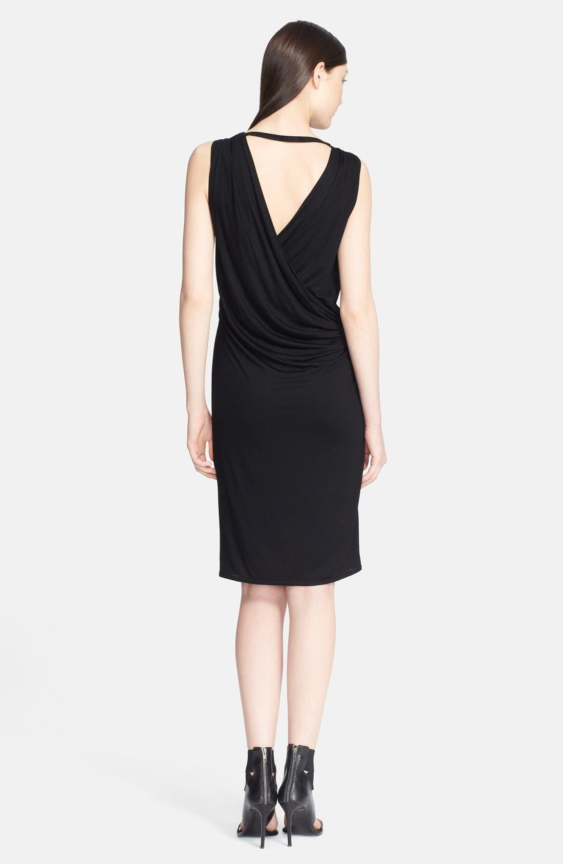 Alternate Image 2  - Helmut Lang 'Scala' Draped Crossover Back Jersey Dress