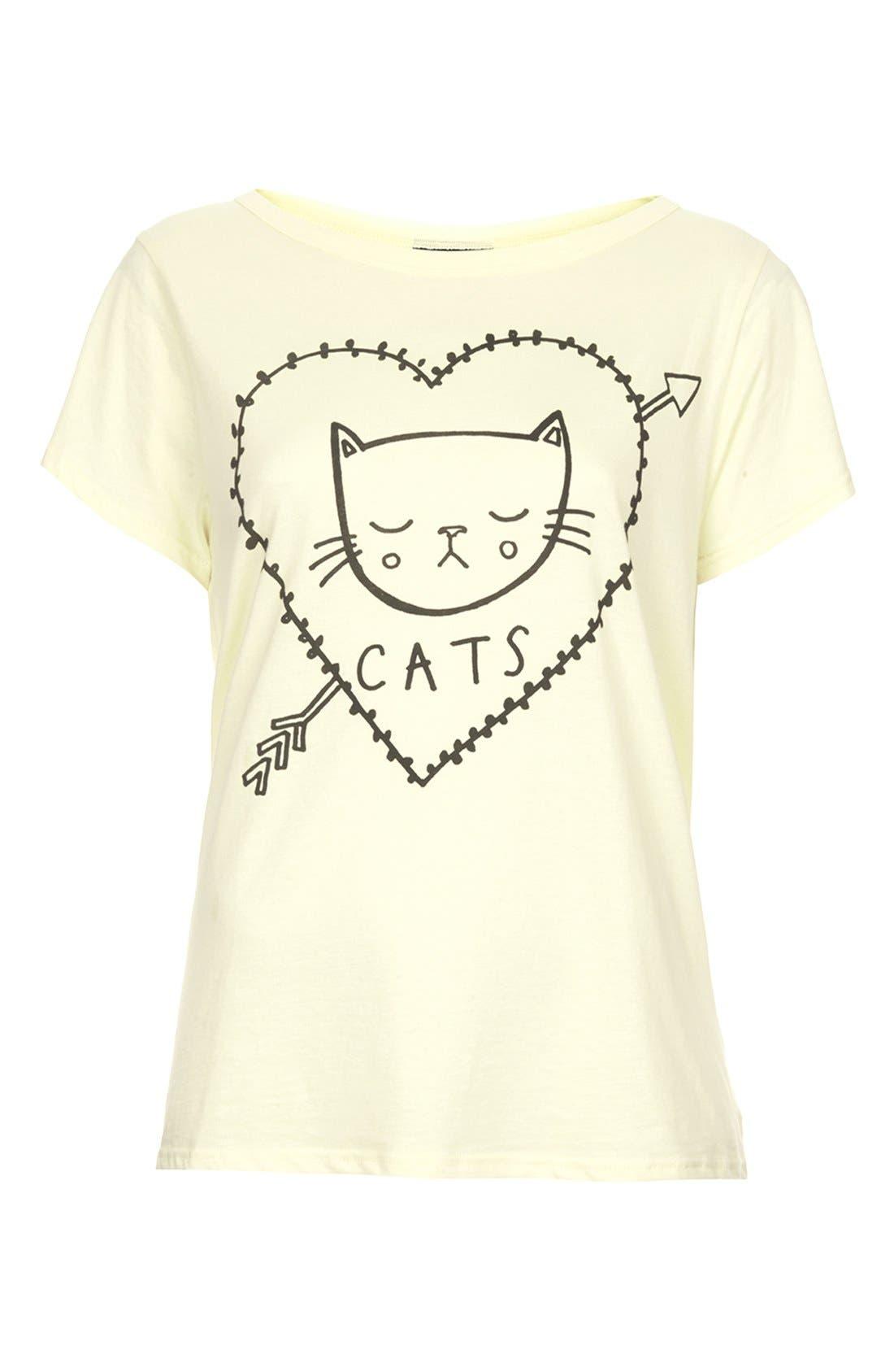 Alternate Image 3  - Topshop 'I Love Cats' Cotton Tee