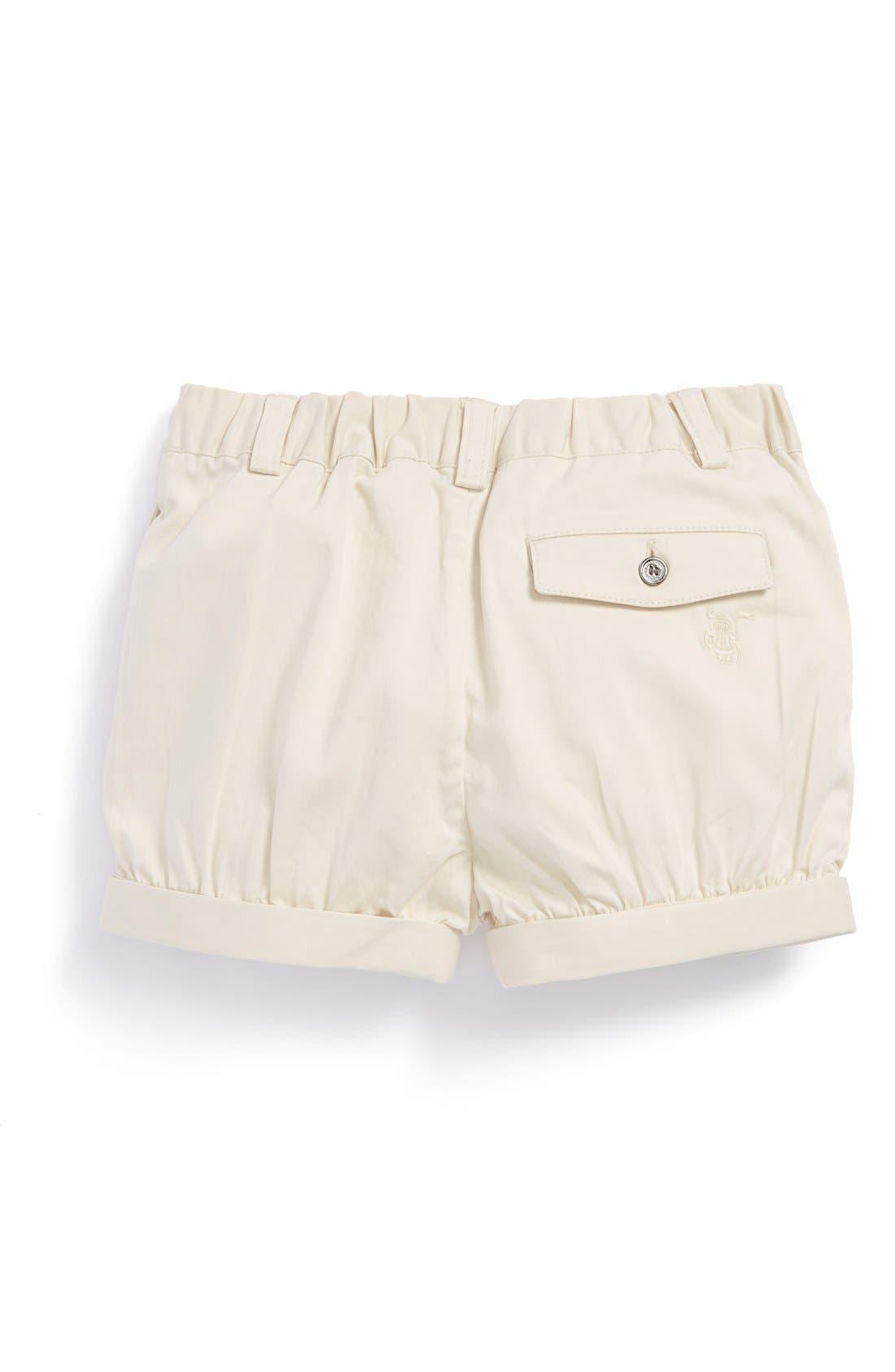 Alternate Image 2  - Burberry 'Shauna' Roll Cuff Shorts (Baby Girls)