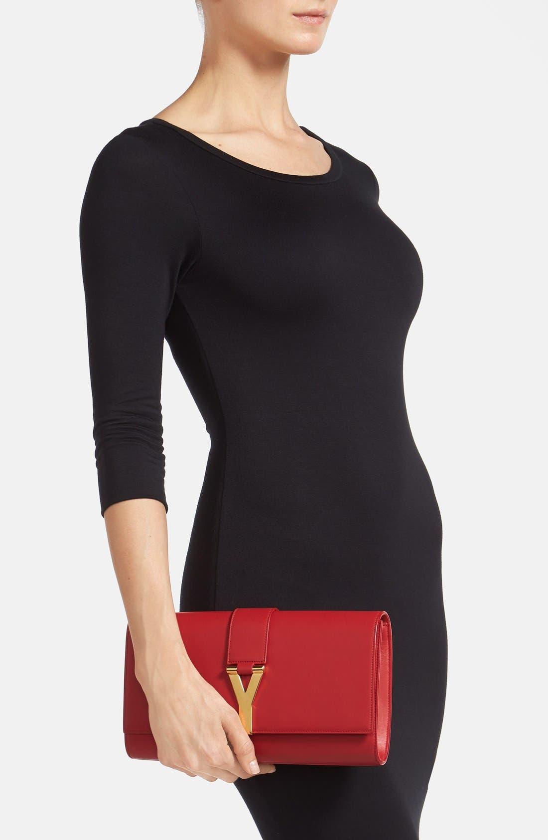 Alternate Image 2  - Saint Laurent 'Y' Leather Clutch