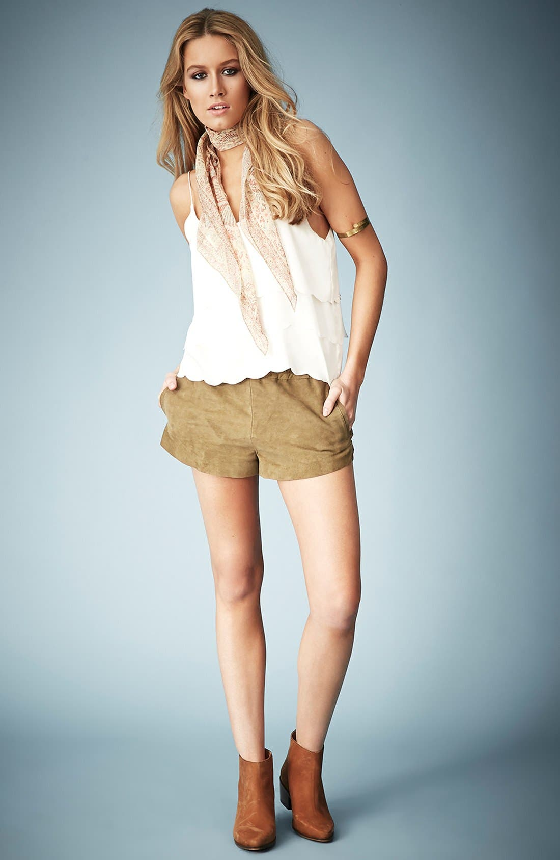 Alternate Image 5  - Kate Moss for Topshop Scalloped Camisole (Online Only)