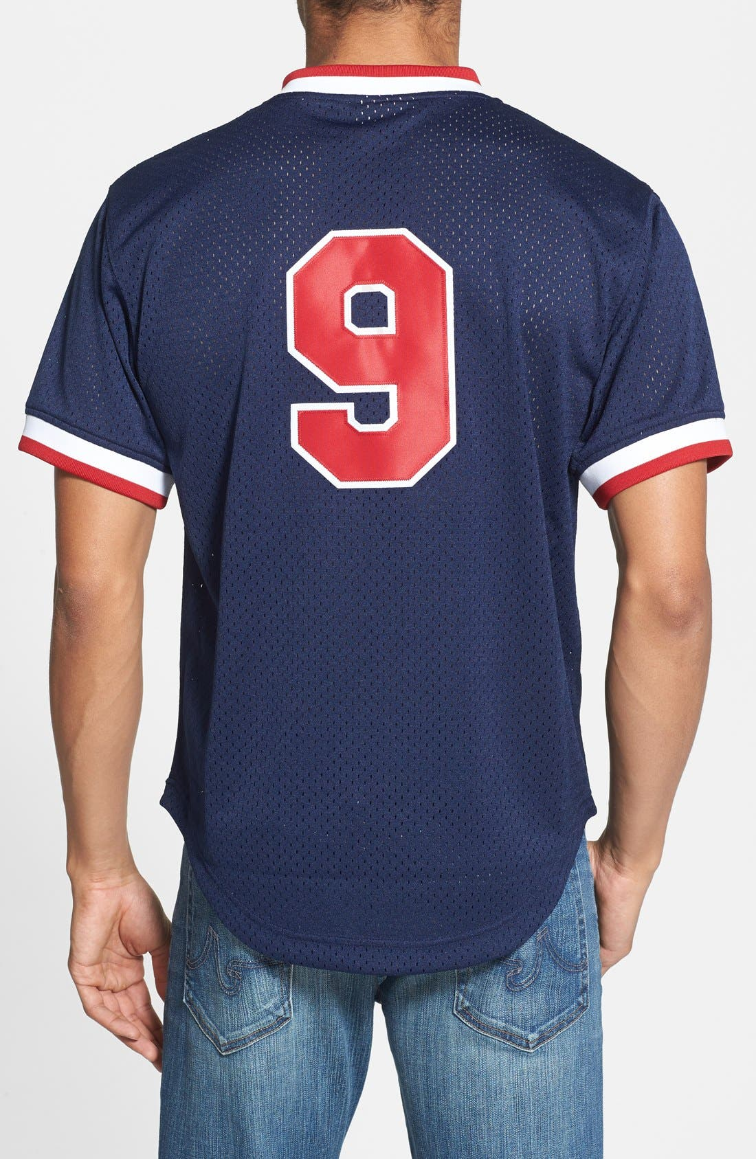 Alternate Image 2  - Mitchell & Ness 'Ted Williams - Boston Red Sox' Authentic Mesh BP Jersey