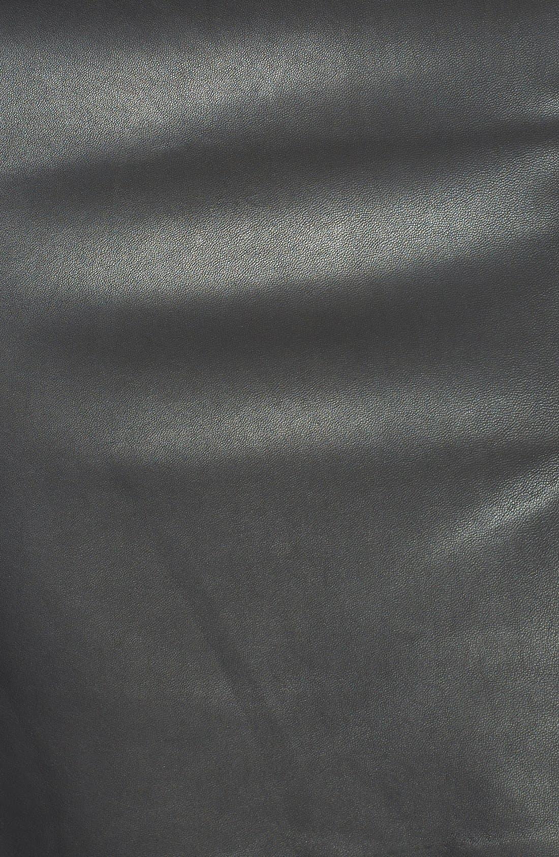 Alternate Image 3  - Classiques Entier® Leather Front Ponte Skirt