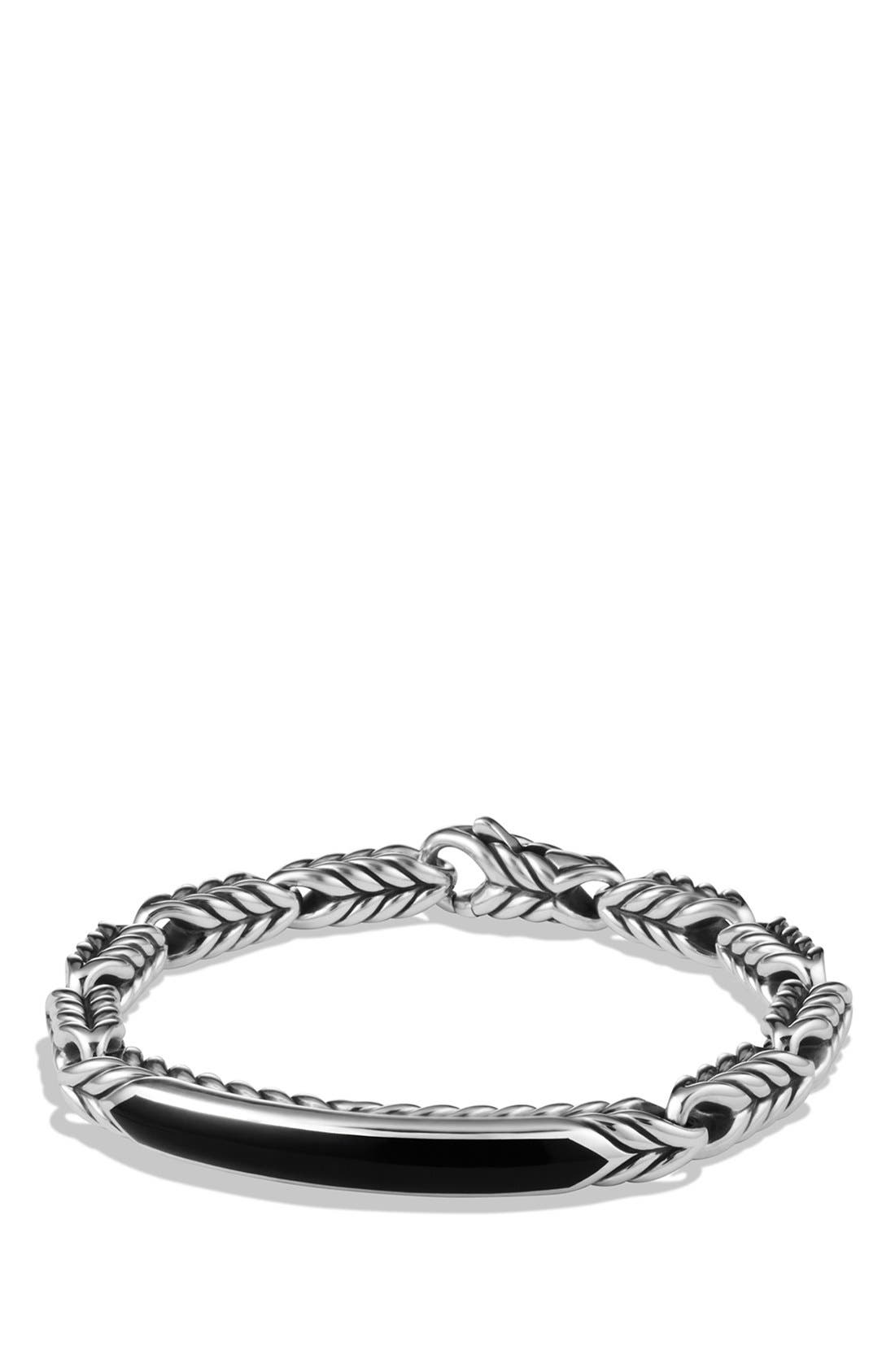 David Yurman 'Chevron' ID Bracelet