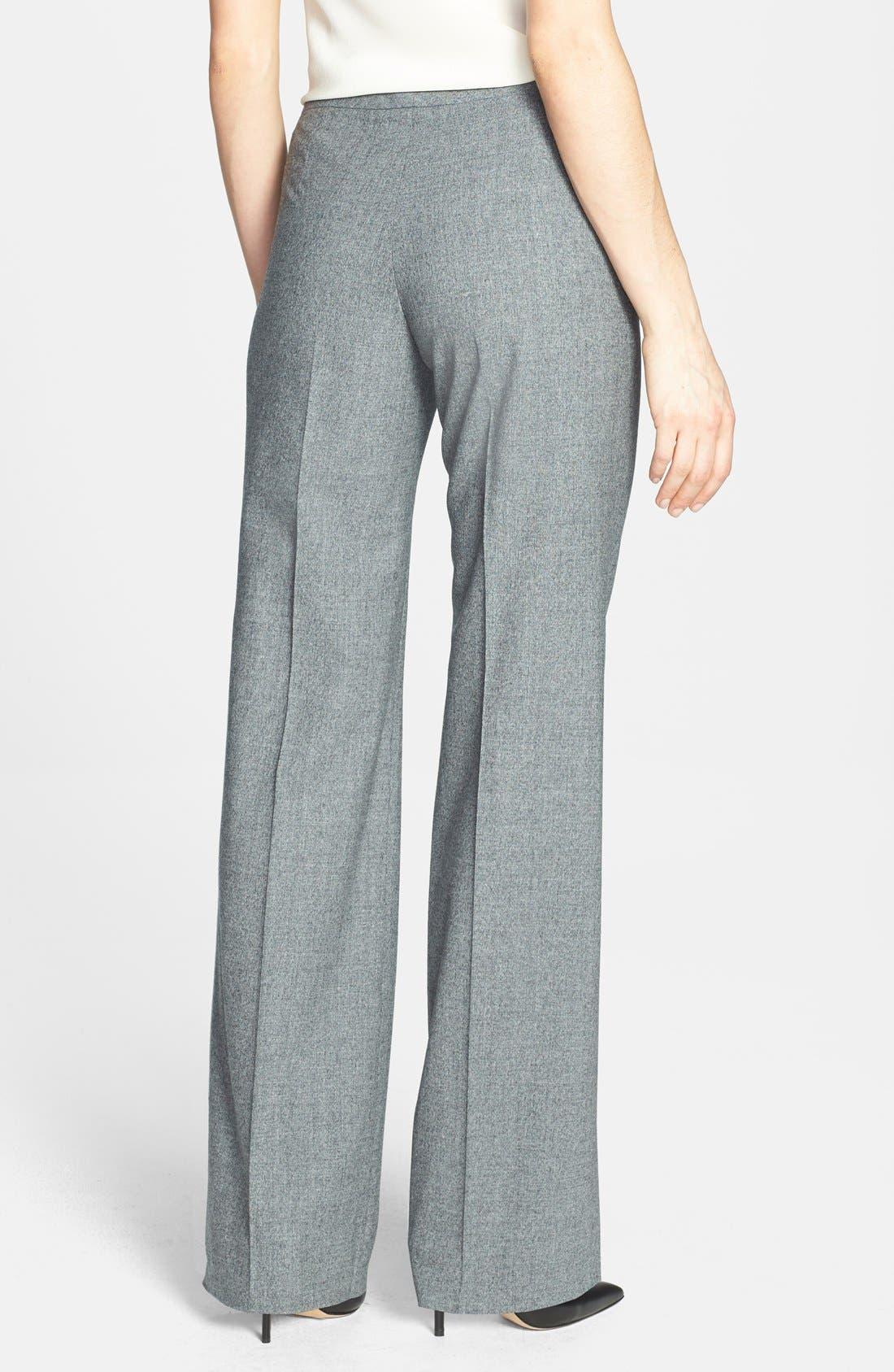 Alternate Image 2  - Santorelli Straight Leg Stretch Wool Suiting Pants