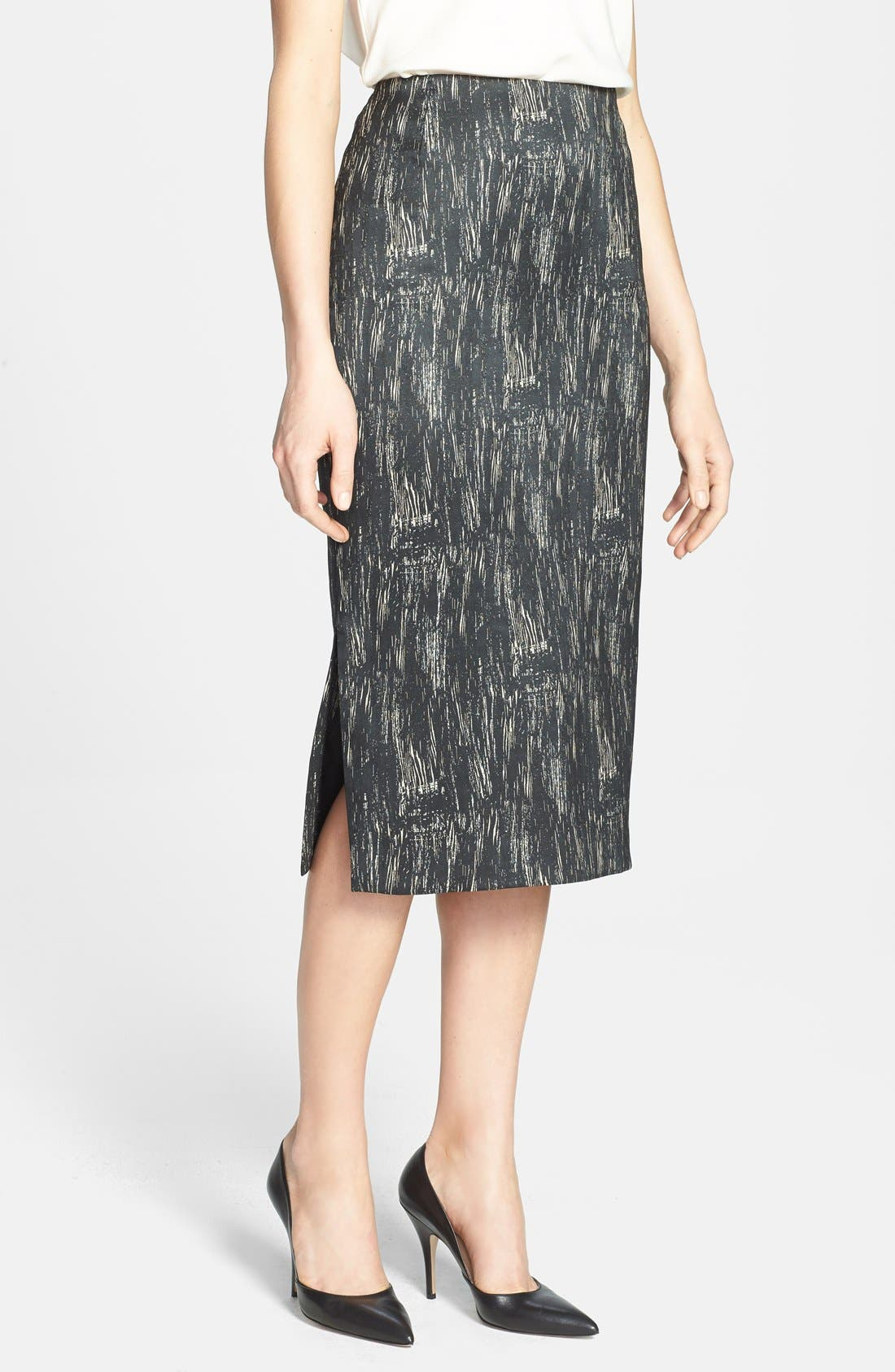 Main Image - Lafayette 148 New York 'Dayna - Nocturnal Etching' Skirt