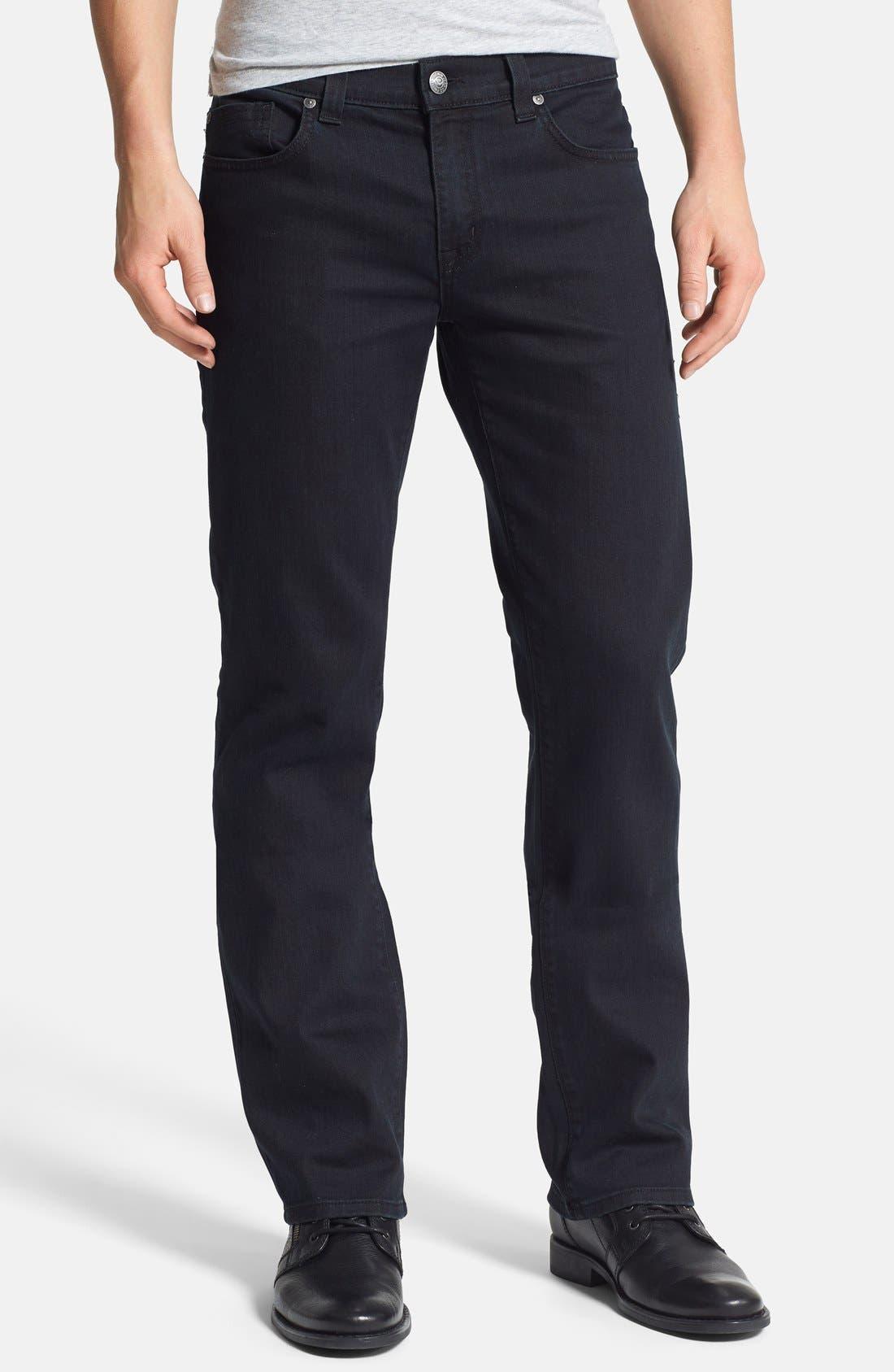 Alternate Image 1 Selected - Fidelity Denim '50-11' Straight Leg Jeans (Town Black Vintage)