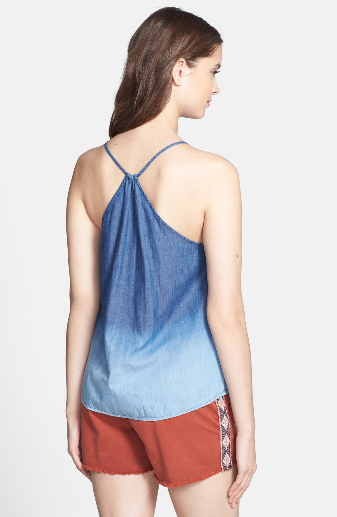 Alternate Image 2  - Lucky Brand 'Indigo' Cotton Halter Style Tank