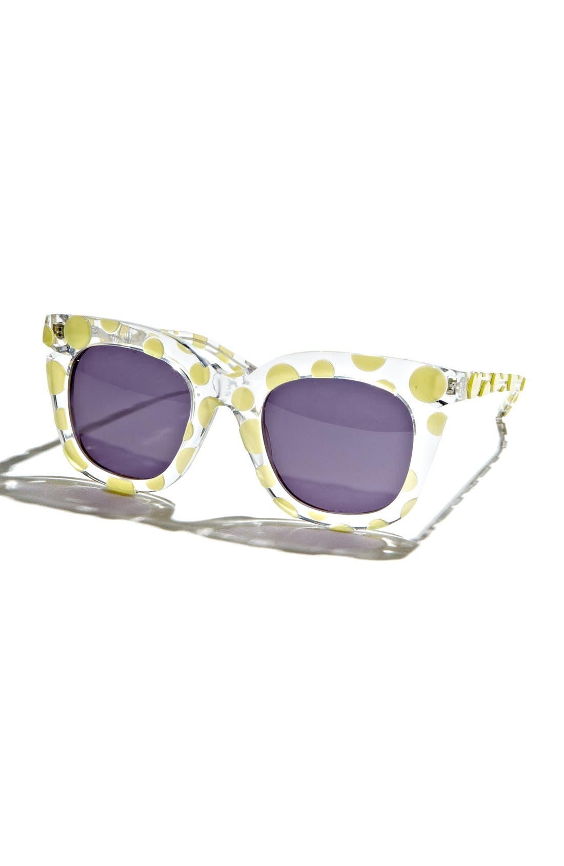 Alternate Image 1 Selected - Pared 'Pools & Palms - Clear & Sunny Polka Dot' 50mm Sunglasses