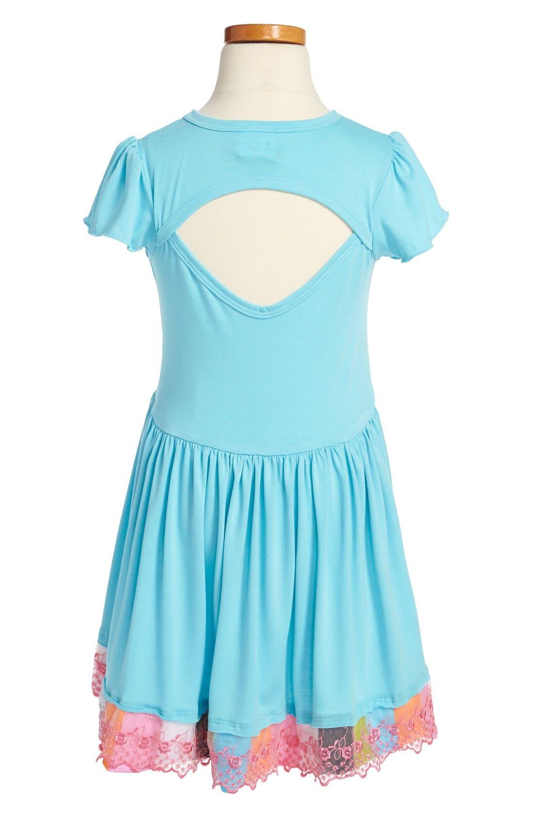Alternate Image 2  - Twirls & Twigs Contrast Ruffle Dress (Little Girls & Big Girls)