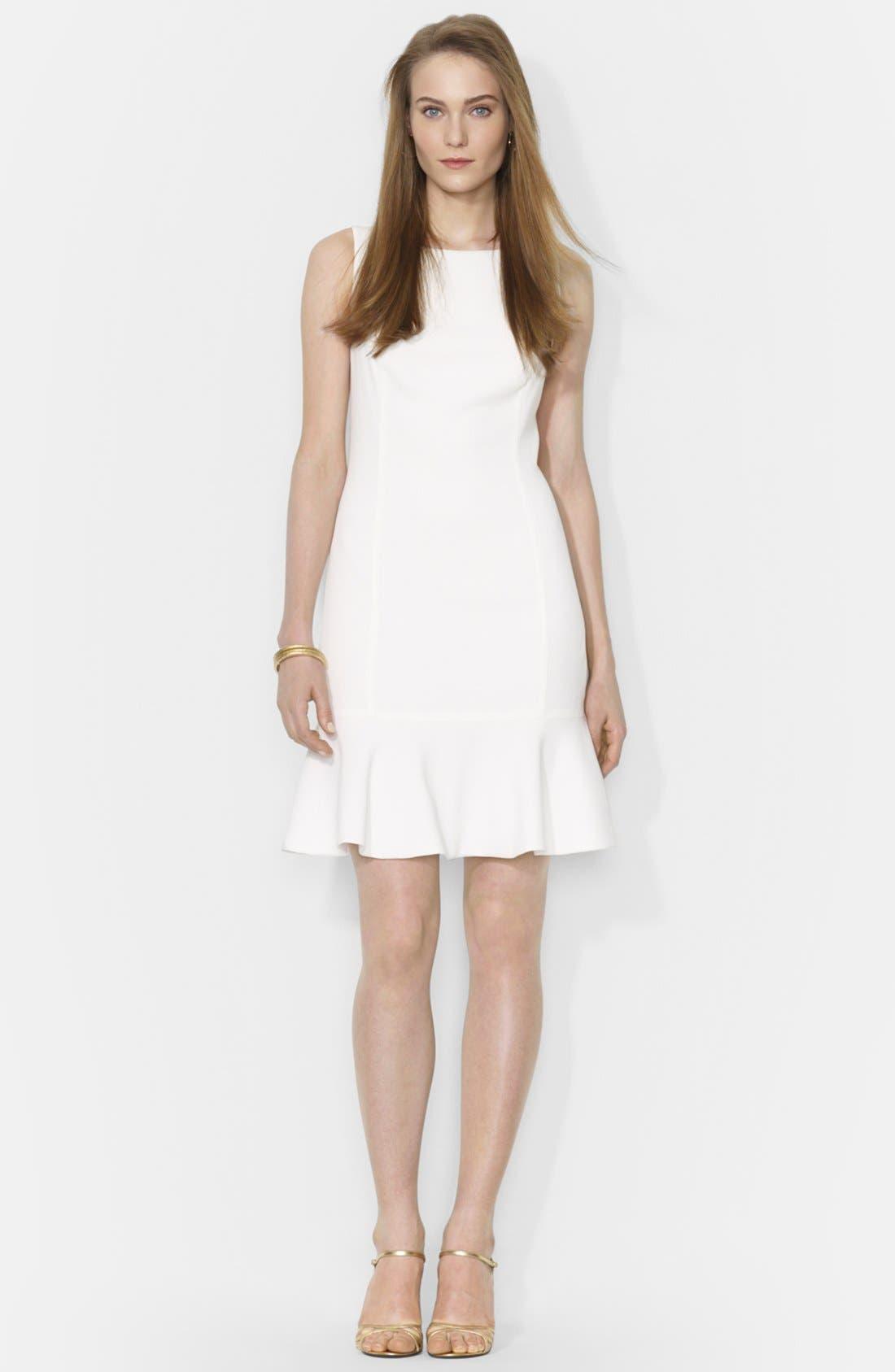 Main Image - Lauren Ralph Lauren Sleeveless Drop Waist Dress