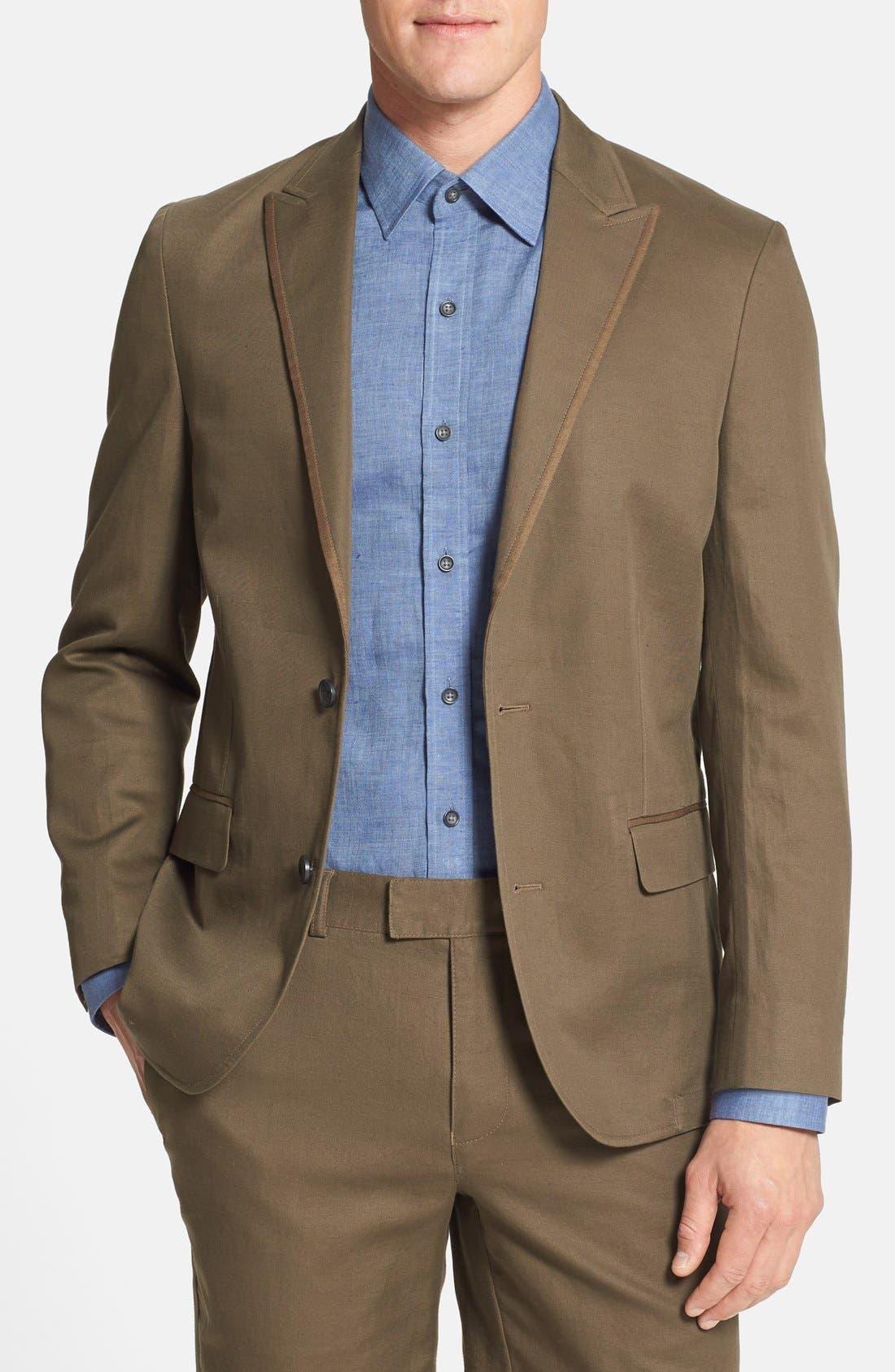 Main Image - Vince Camuto Slim Fit Cotton & Linen Blazer