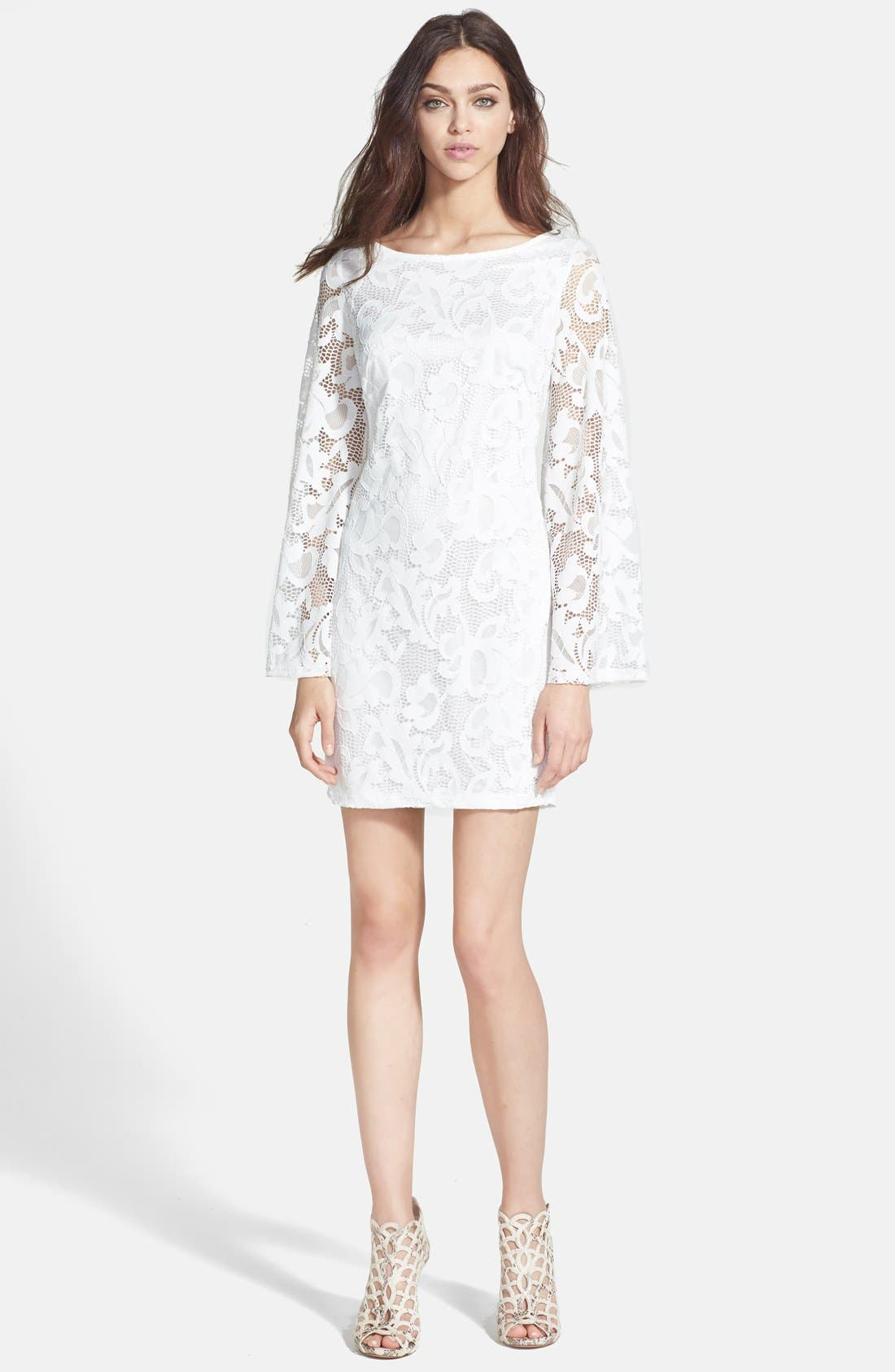 Alternate Image 3  - Alexia Admor Lace Shift Dress