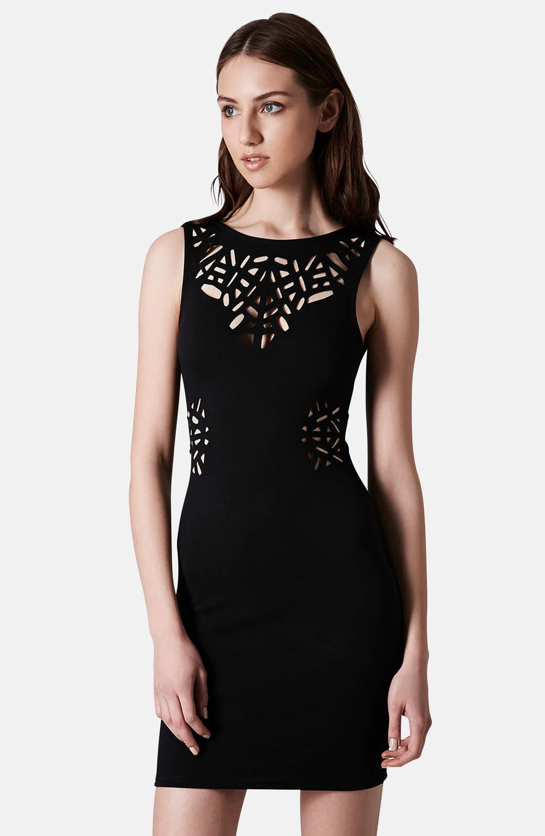 Alternate Image 1 Selected - Topshop Laser Cut Body-Con Dress