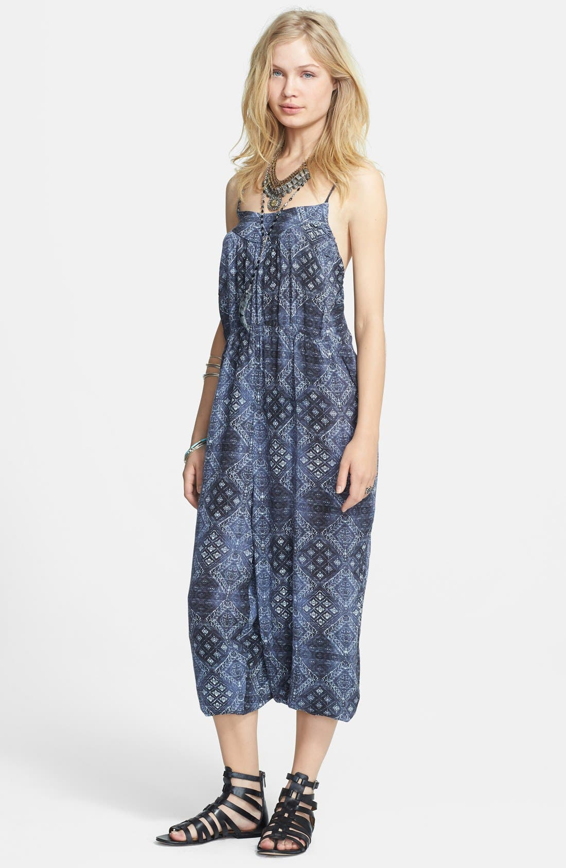 Alternate Image 1 Selected - Free People Print Harem Jumpsuit
