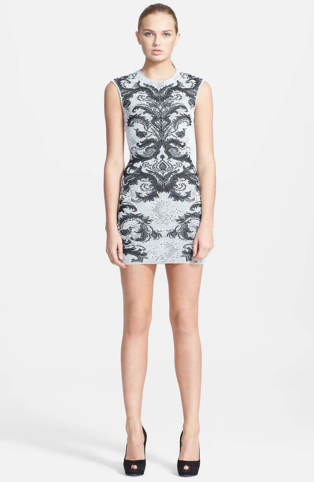Main Image - Alexander McQueen Jacquard Knit Body-Con Dress