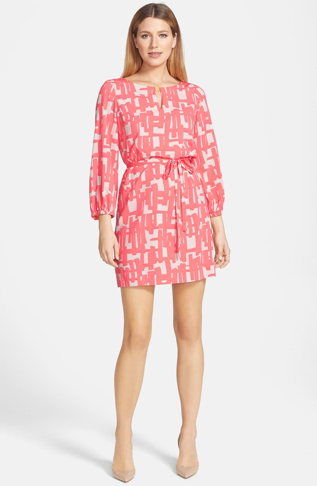 Main Image - Tahari Print Shift Dress (Petite)