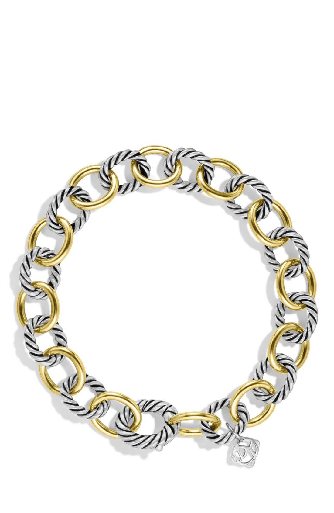 Alternate Image 2  - David Yurman 'Oval' Link Bracelet with Gold
