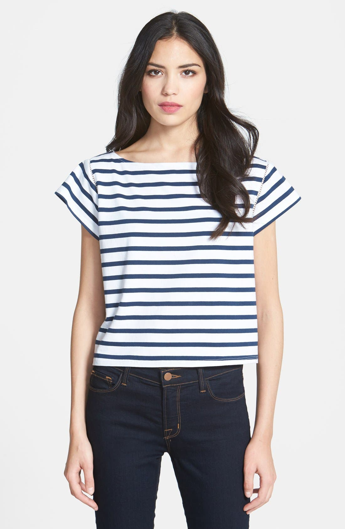Alternate Image 1 Selected - Milly Stripe Jersey Tee