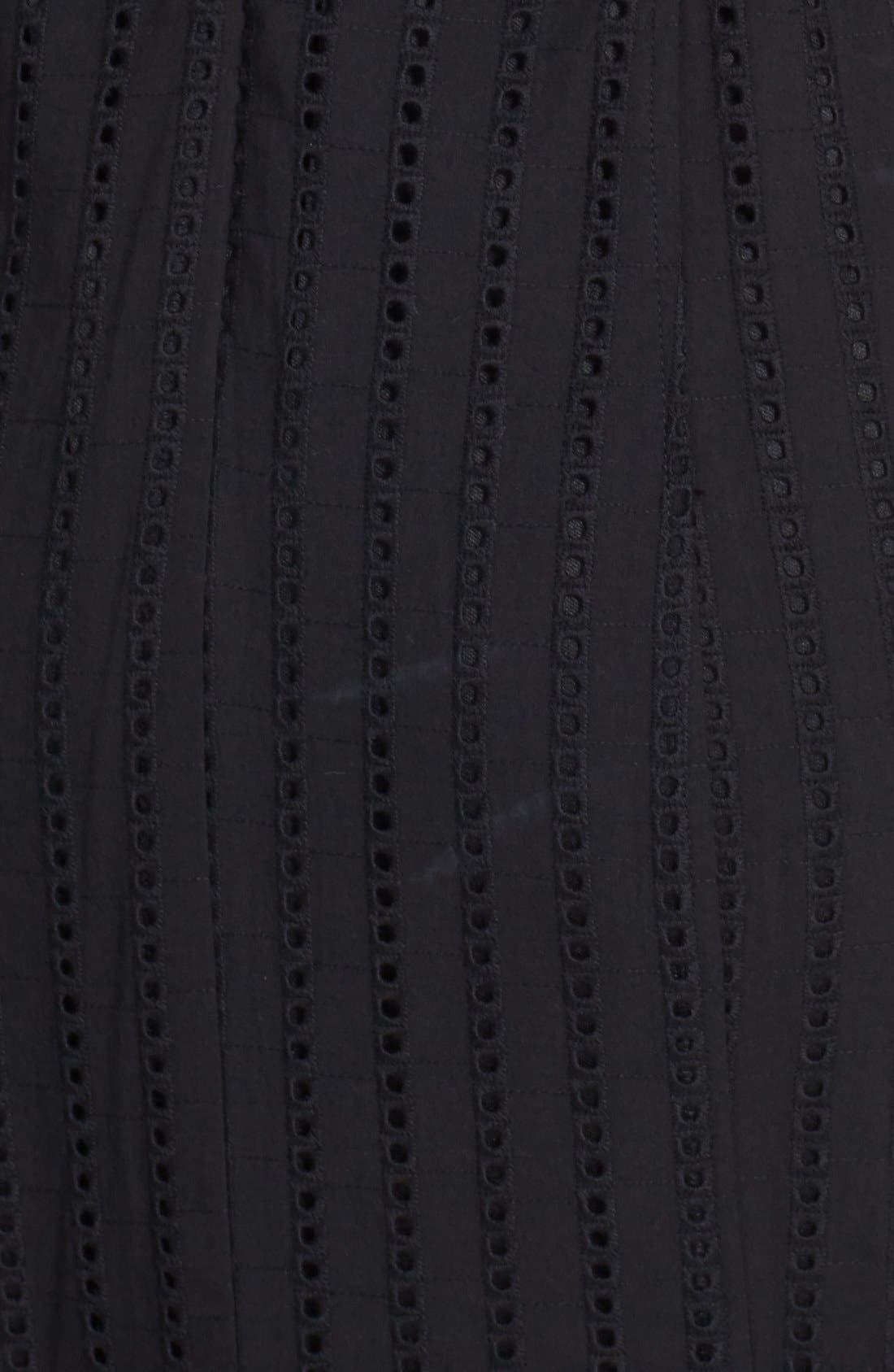 Alternate Image 4  - Ellen Tracy Belted Cotton Eyelet Sheath Dress