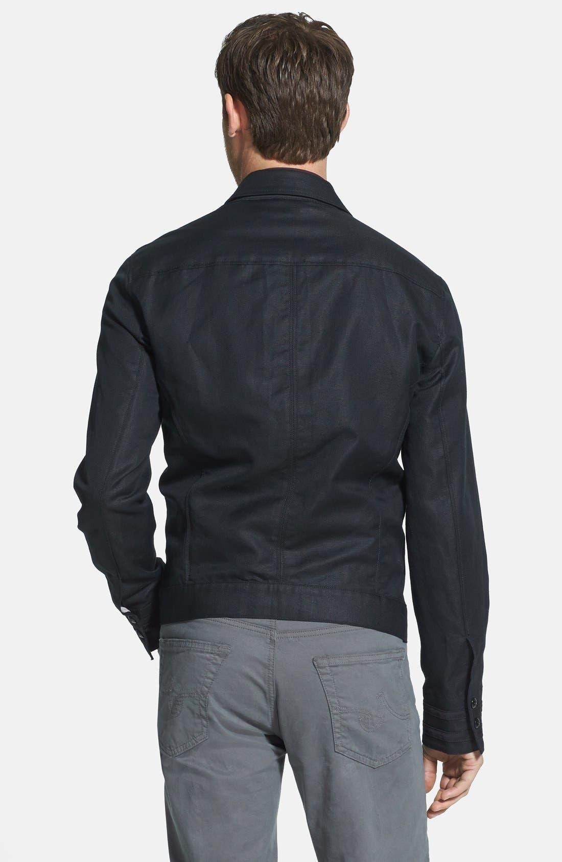 Alternate Image 2  - John Varvatos Star USA Slim Fit Cotton & Linen Jacket
