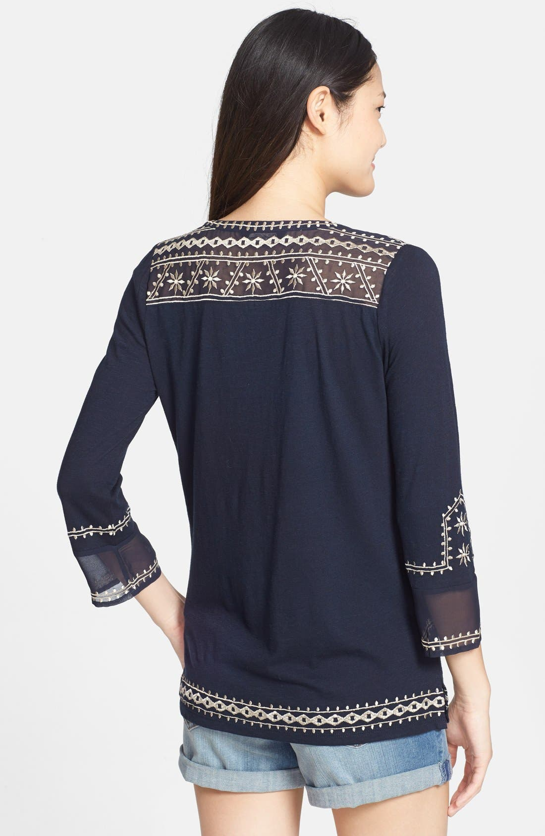 Alternate Image 2  - Lucky Brand 'Kiana' Embroidered Tunic Top