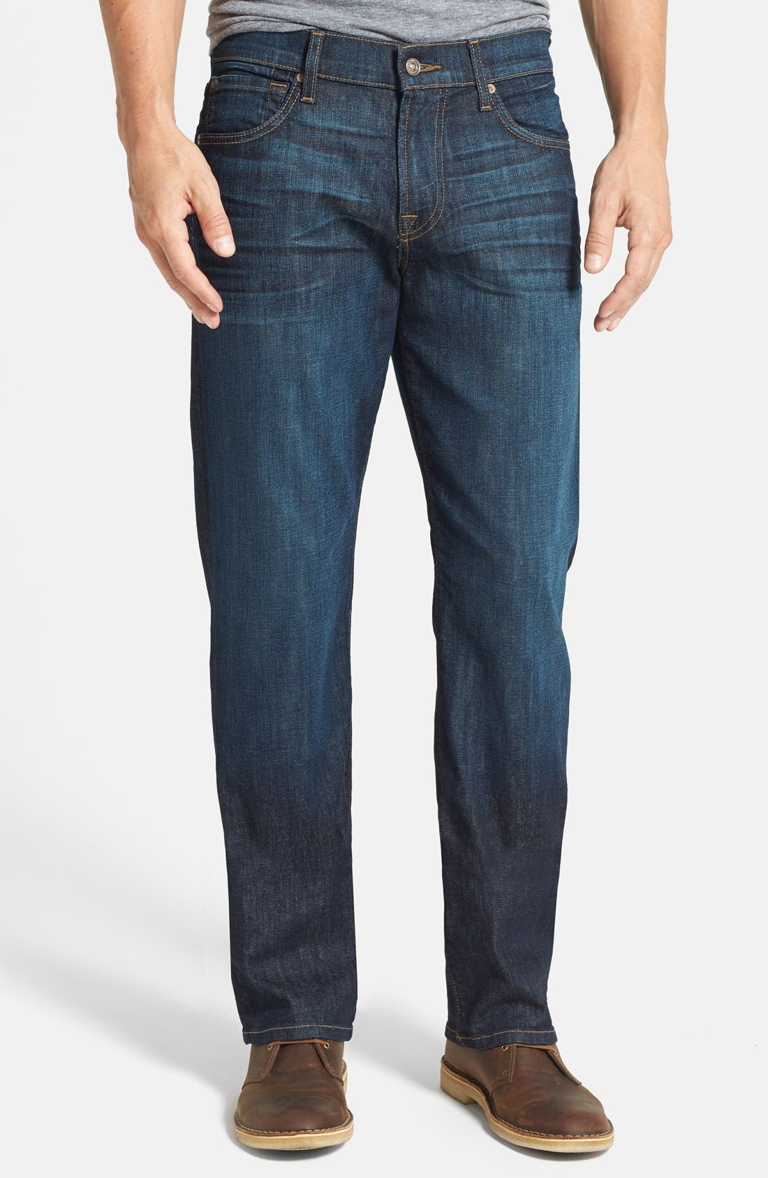 Main Image - 7 For All Mankind® 'Carsen' Easy Straight Leg Jeans (Monaco Blue)