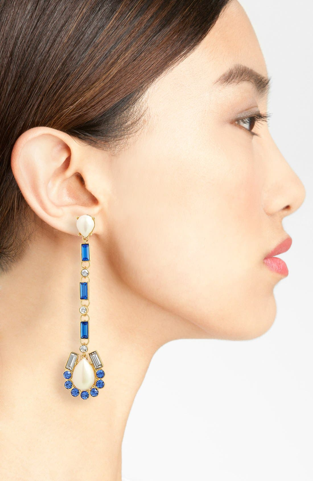 Alternate Image 2  - kate spade new york 'sunrise cluster' linear drop earrings