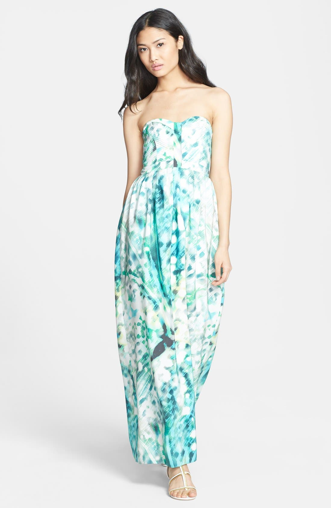 Alternate Image 1 Selected - Parker 'Bayou' Strapless Silk Maxi Dress
