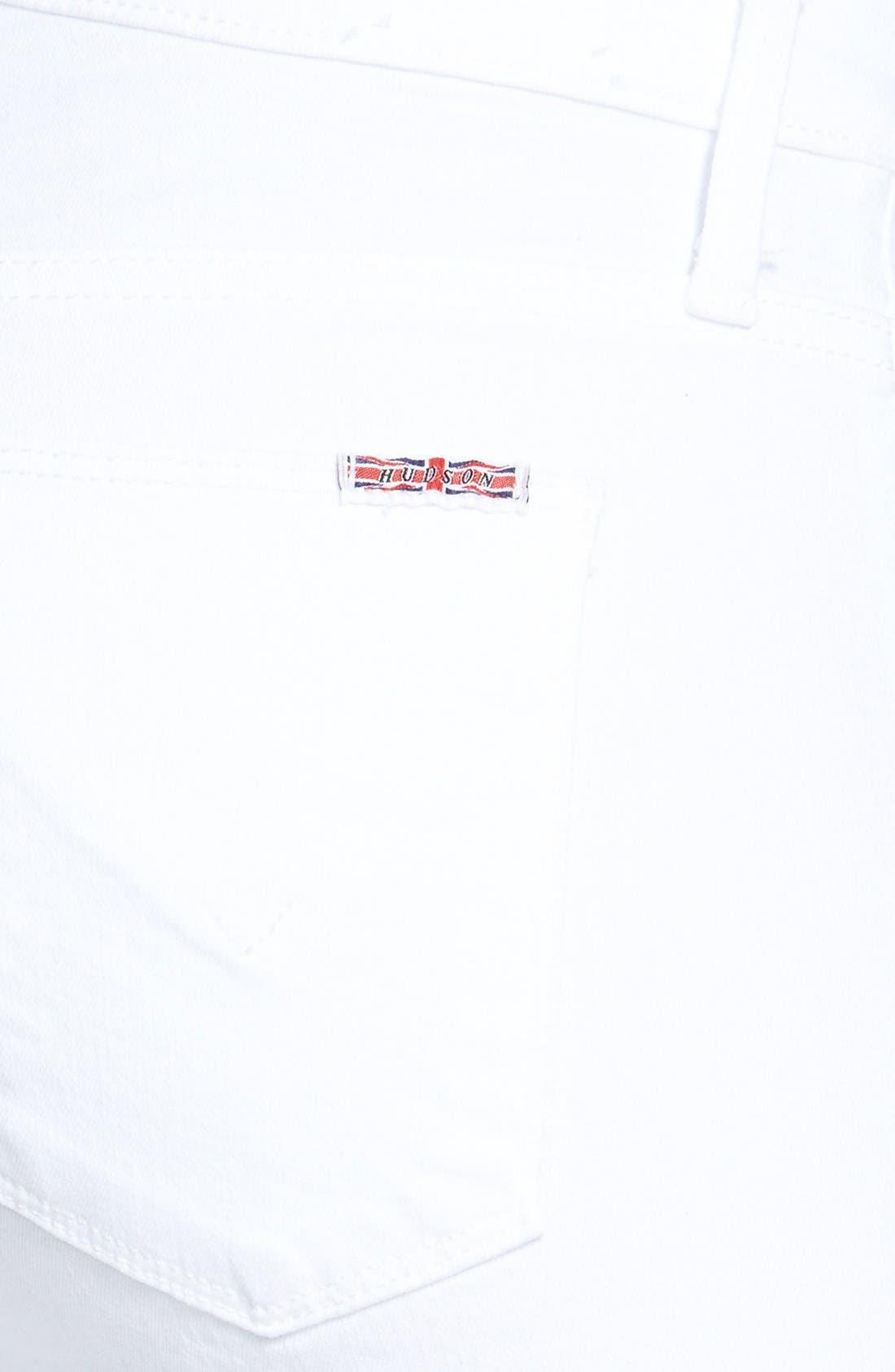 Alternate Image 3  - Hudson Jeans 'Nico' Skinny Stretch Jeans (White)