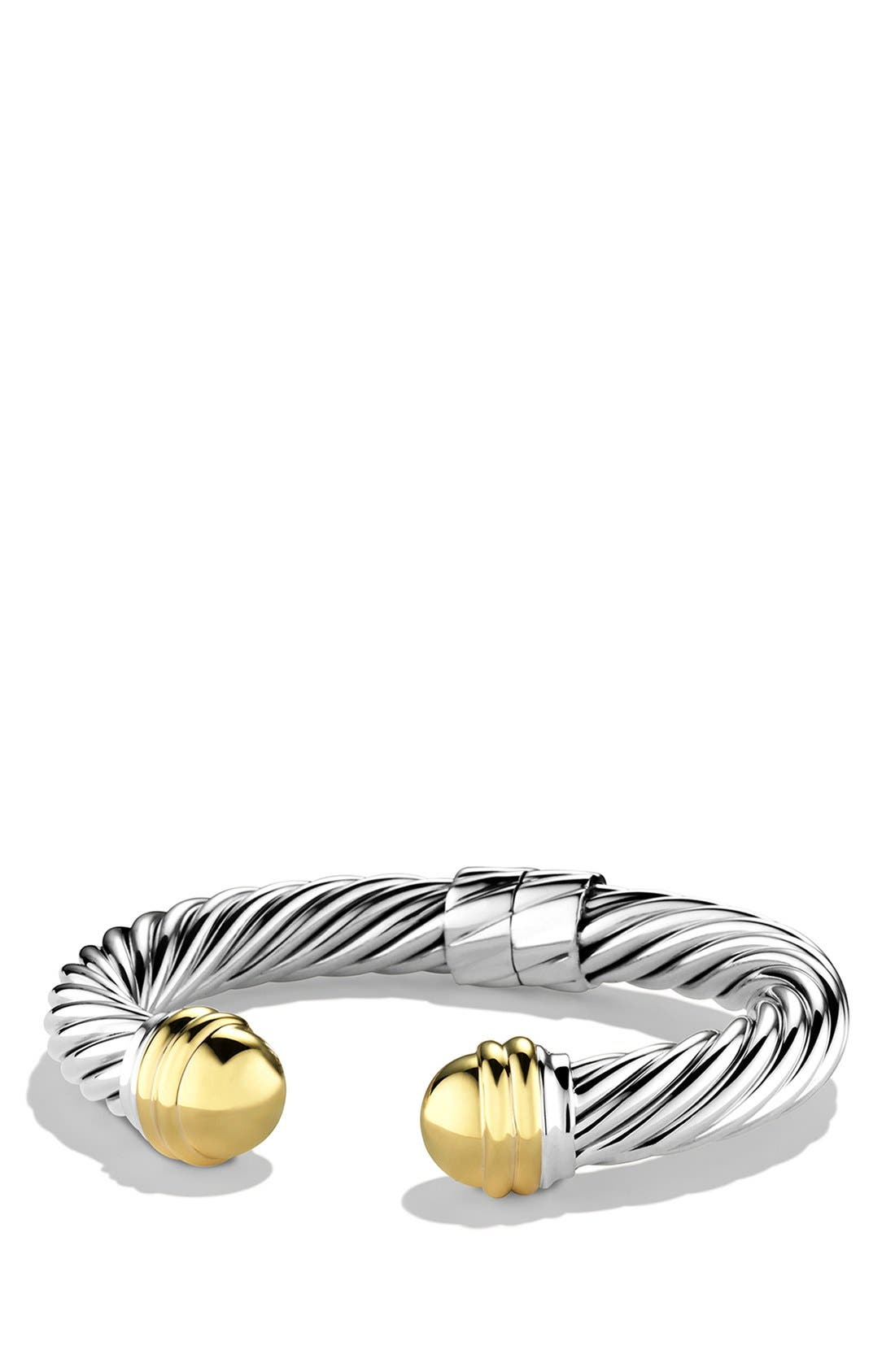 Alternate Image 1 Selected - David Yurman 'Cable Classics' Bracelet with Gold Domes