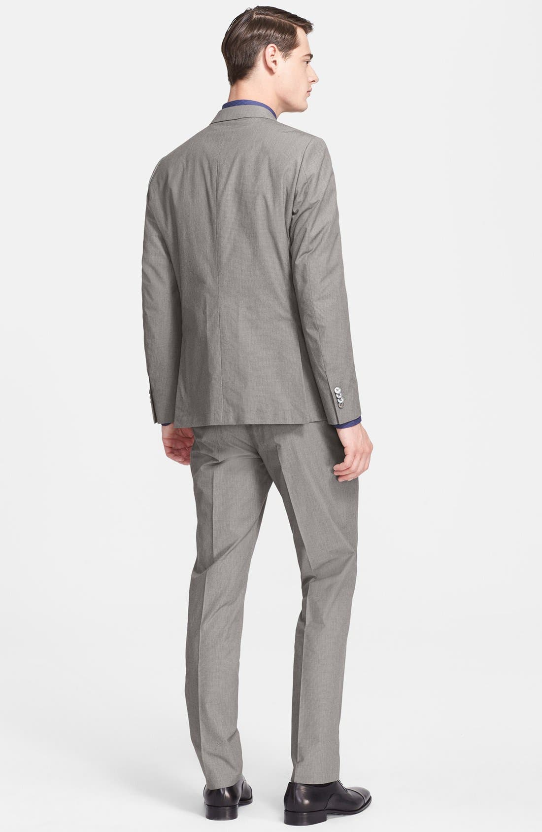 Alternate Image 2  - Z Zegna Extra Trim Fit Grey Cotton Suit