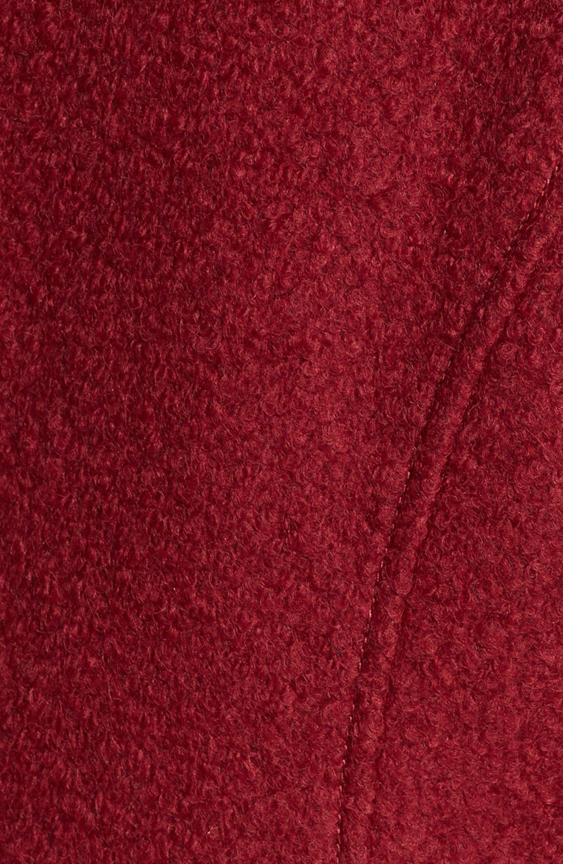 Alternate Image 3  - GUESS Cutaway Front Bouclé Coat (Regular & Petite) (Online Only)