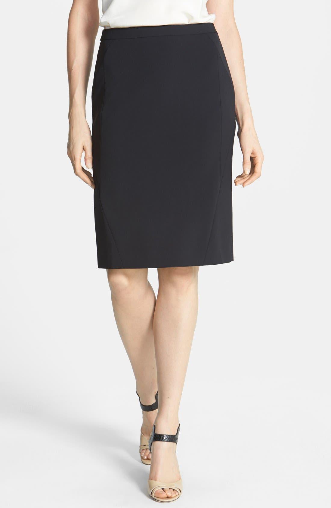Alternate Image 1 Selected - Classiques Entier® Techno Pencil Skirt