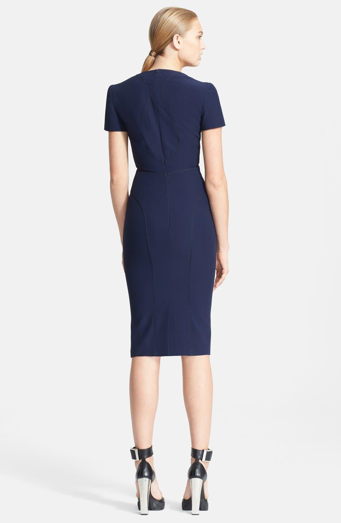 Alternate Image 2  - Alexander McQueen Crepe Dress