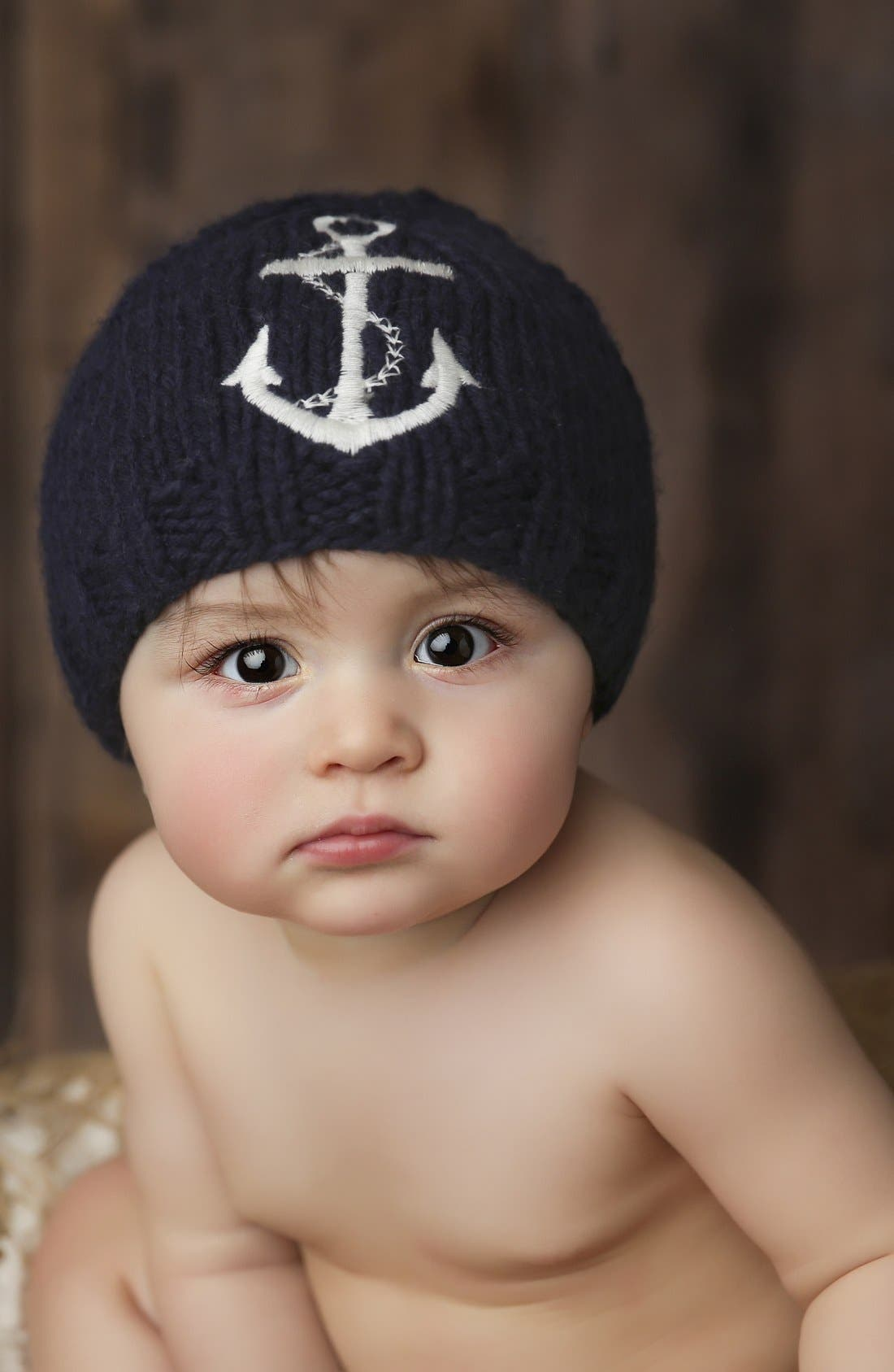 The Blueberry Hill 'Hudson' Anchor Hat (Baby)