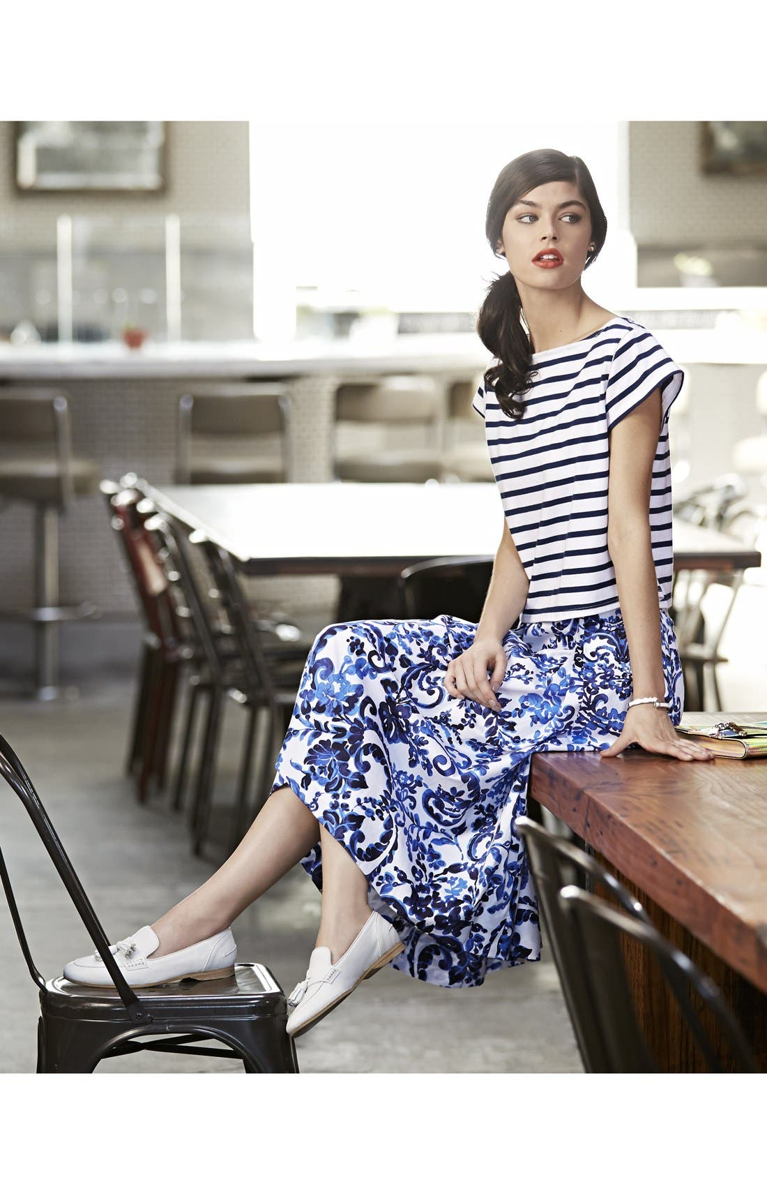 Alternate Image 4  - Milly 'Katie' Print Flare Skirt